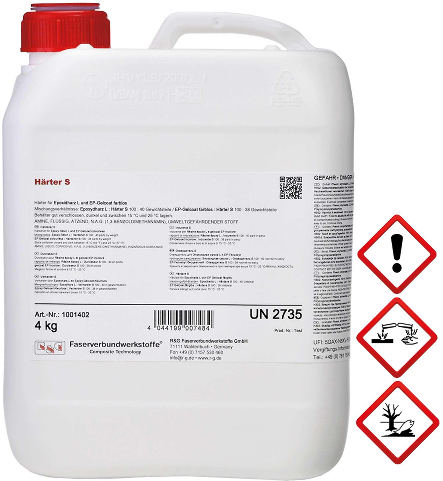 R&G Härter S, Flasche/ 1 kg