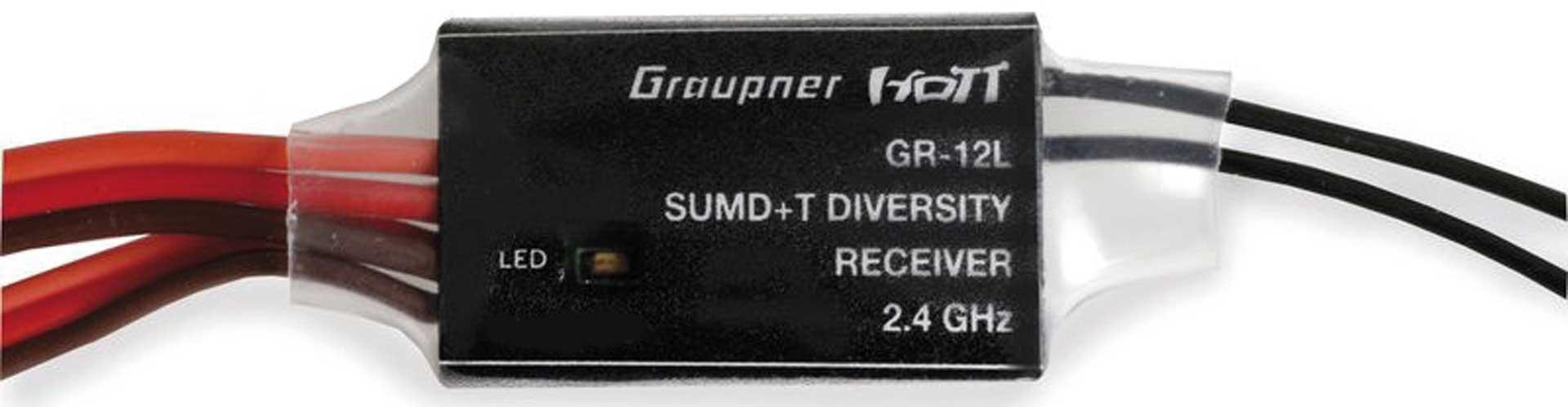 GRAUPNER GR-12L SUMD+T 2 Antennen 2.4 GHz Empfänger