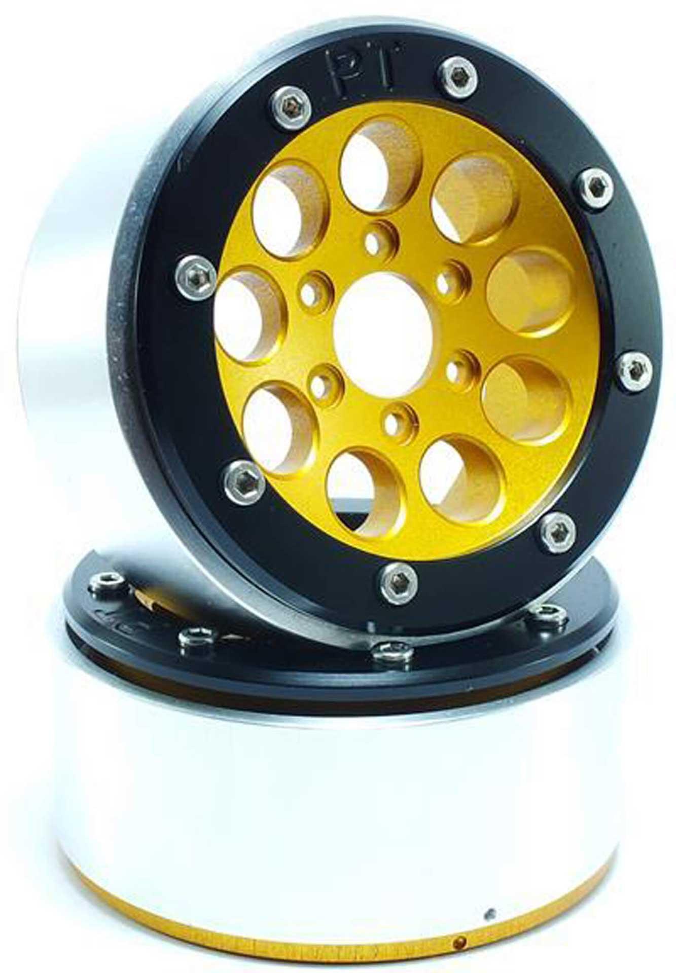 Metsafil Beadlock Wheels GUN gold/schwarz 1.9 (2 St.) ohne Radnabe