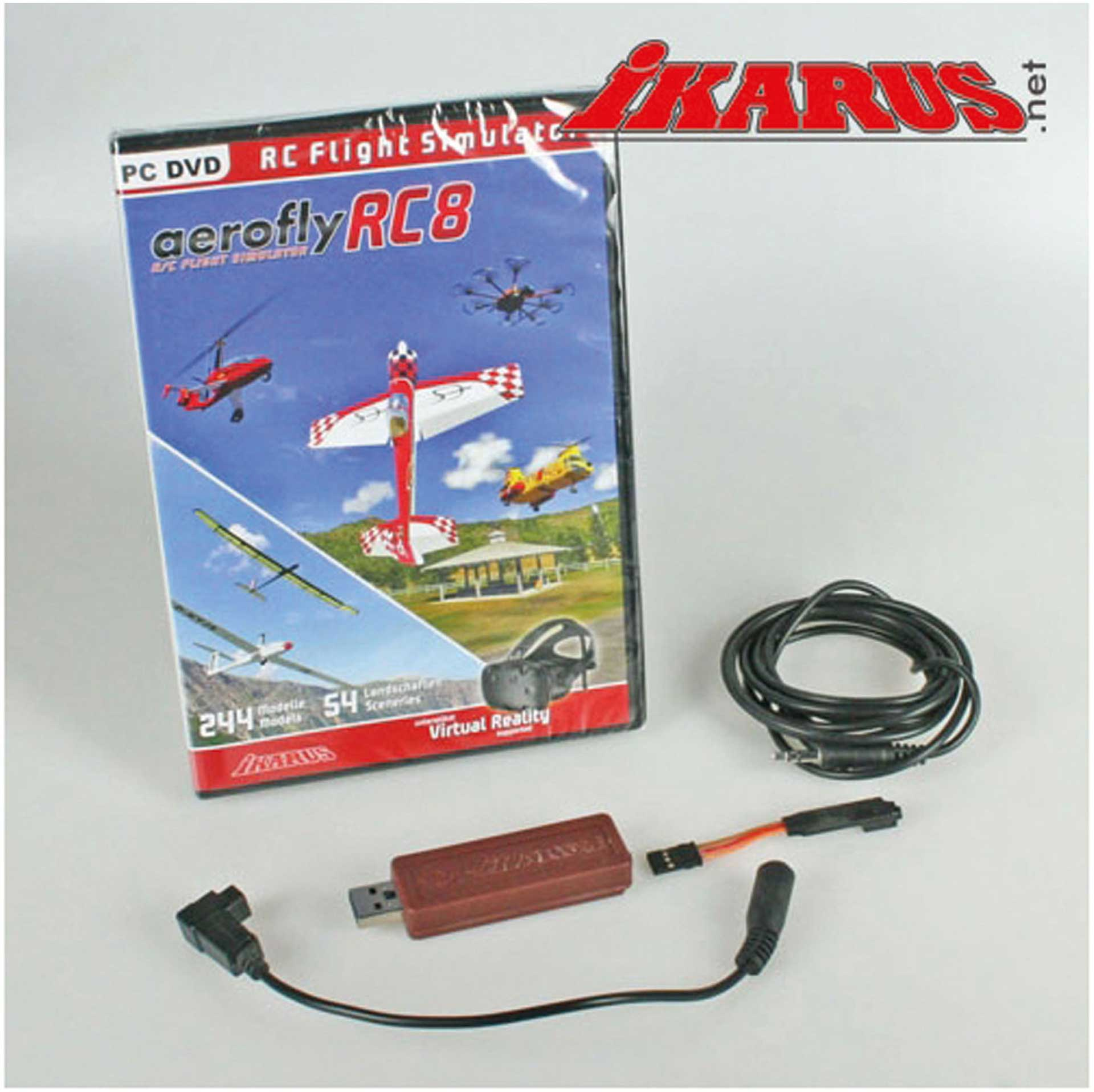 IKARUS AEROFLY RC8 WITH INTERFACE FOR FUTABA