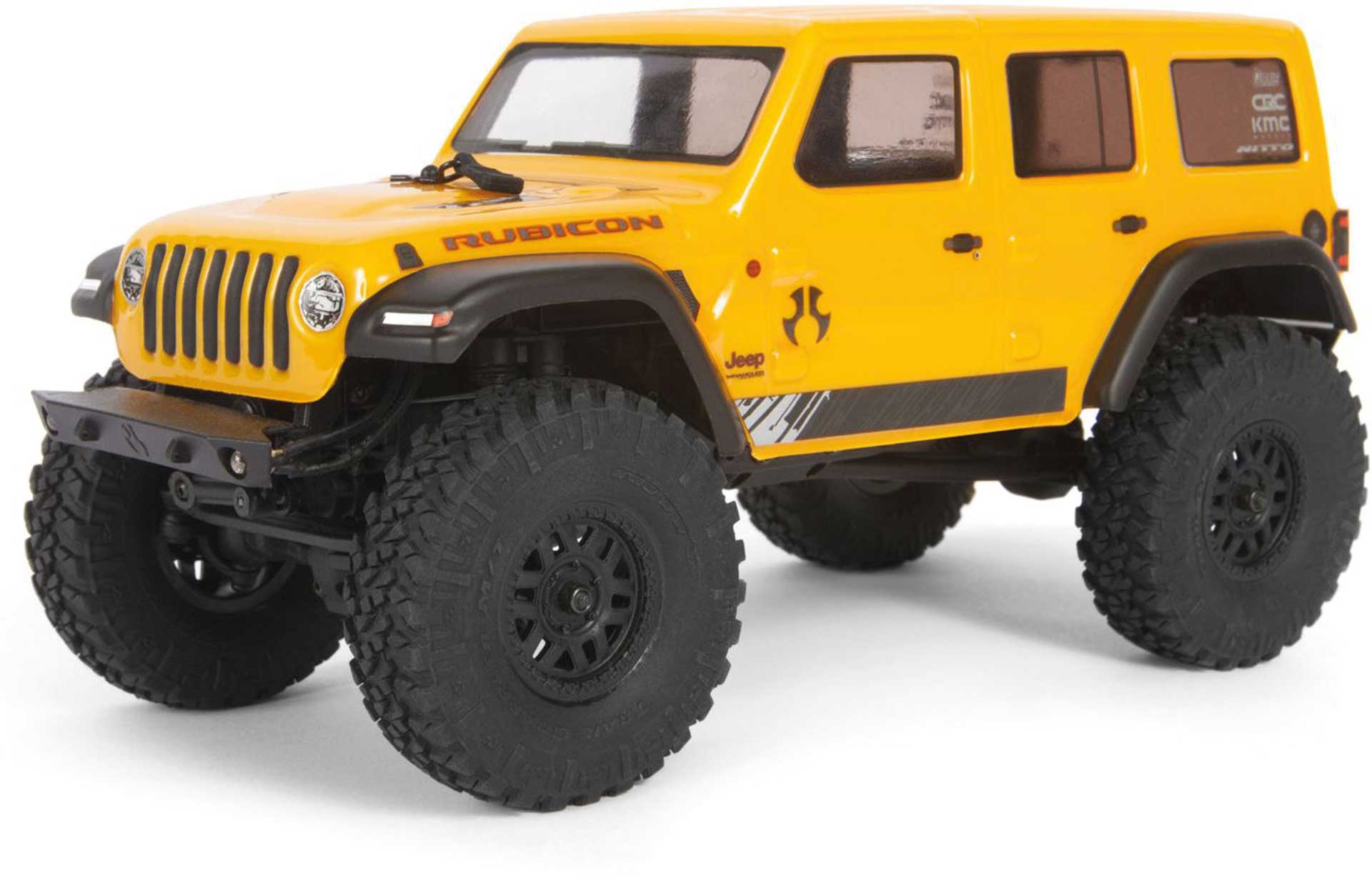 AXIAL SCX24 2019 Jeep Wrangler JLU CRC 1/24 Rock Crawler 4WD RTR Yellow