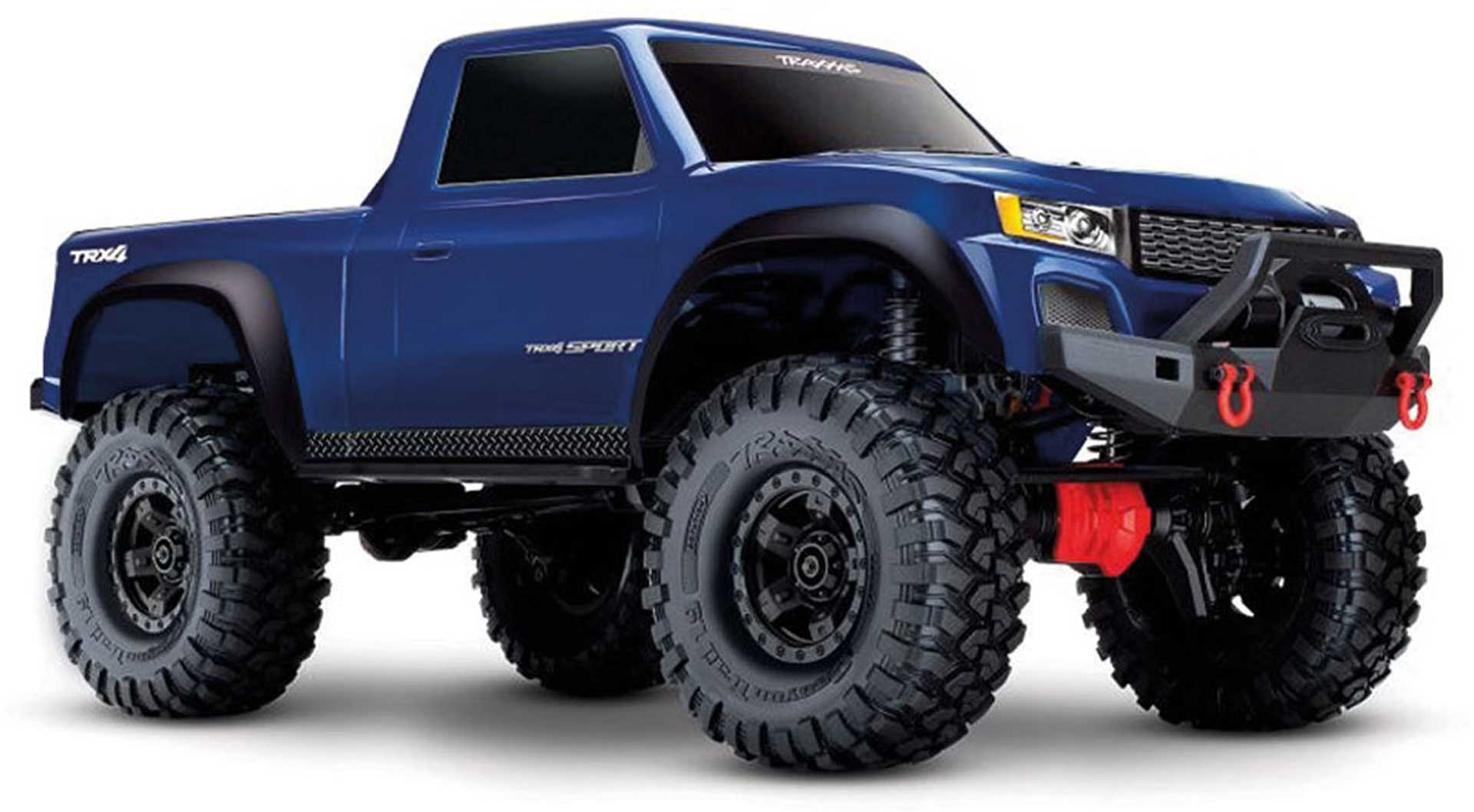 TRAXXAS TRX-4 SPORT 4X4 BLUE RTR SCALE CRAWLER 1/10 4WD BRUSHED WITHOUT BATTERY AND CHARGER