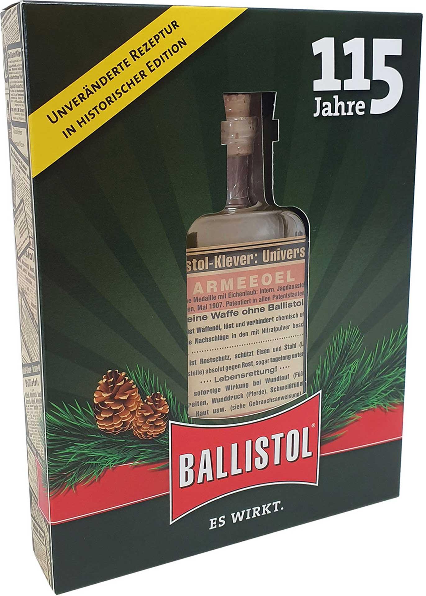 UNIVERSAL OIL 100ML 115 YEARS BALLISTOL IN NOSTALGIA GLASS BOTTL AND GIFT BOX