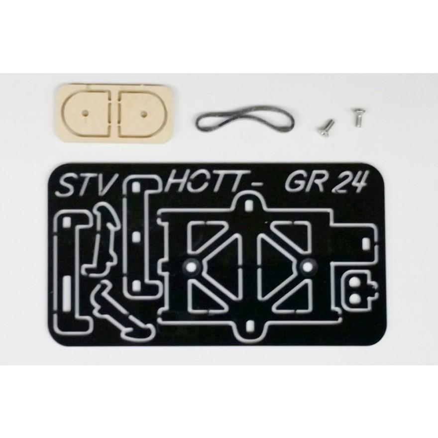 STV-Tech Klick-Halterung HOTT GR-24 Empfänger