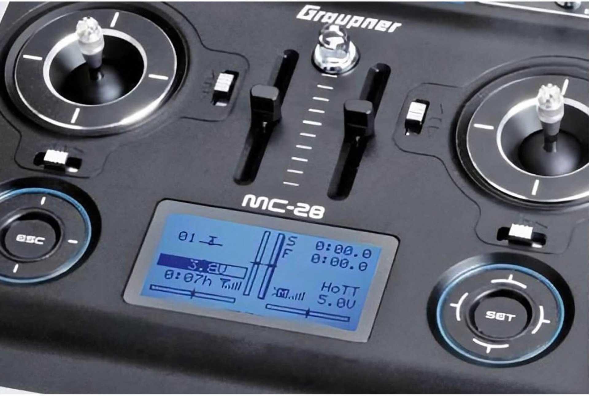 GRAUPNER MC-28 HOTT SINGLE TRANSMITTER REMOTE CONTROL
