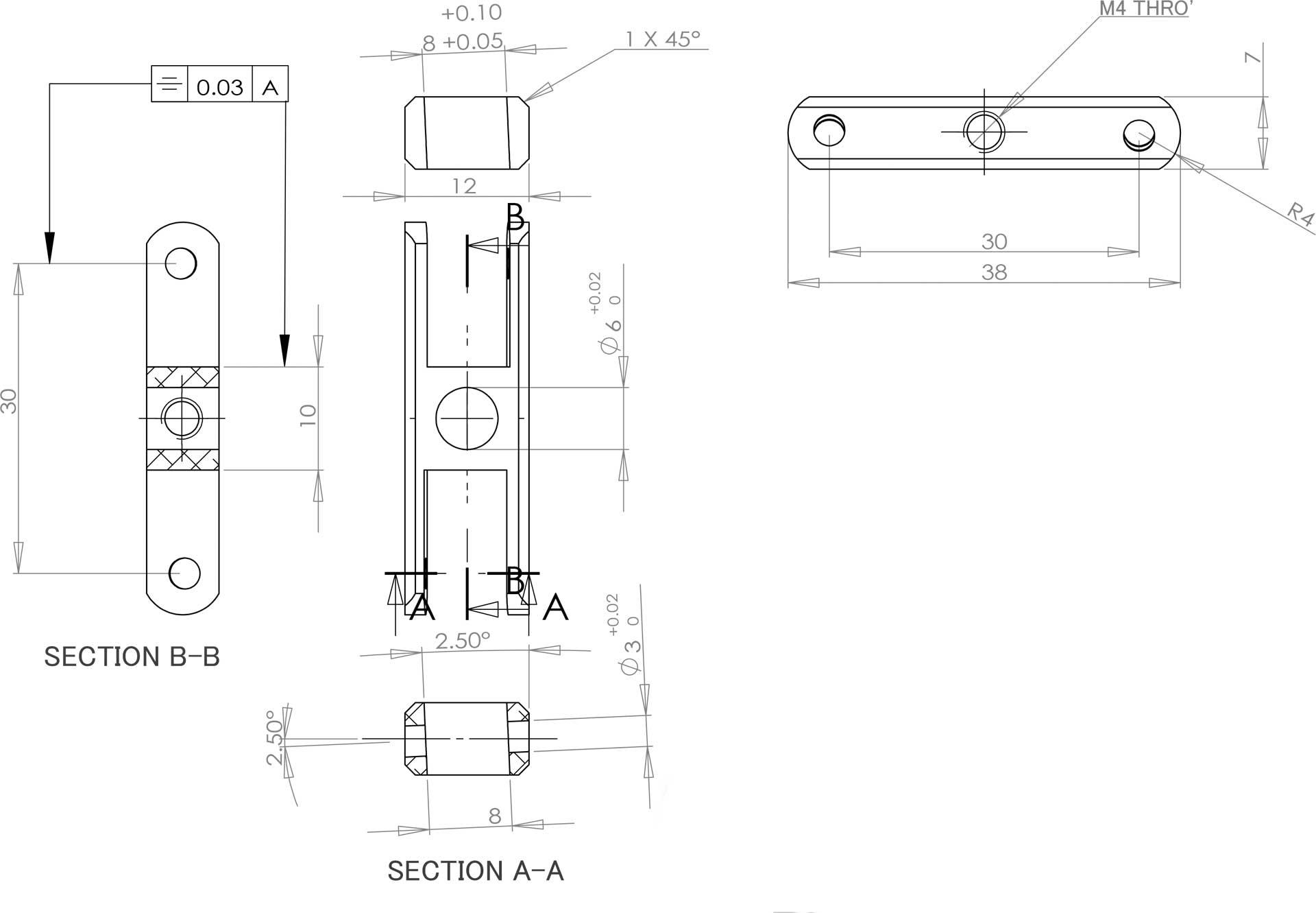 Robbe Modellsport avec telteil LS 3522/5, 20mm, 2,5°, 5mm