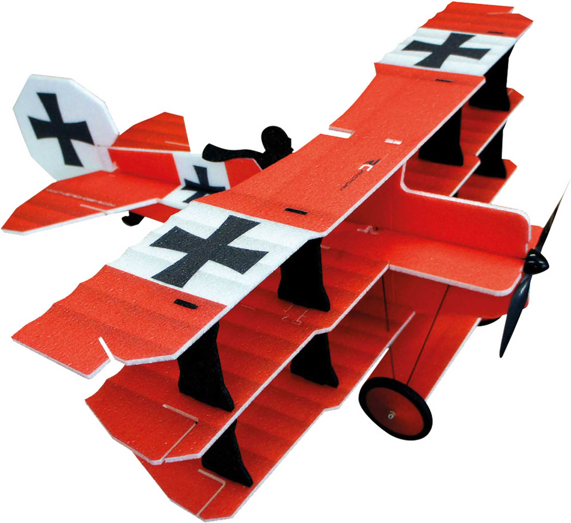 PICHLER CRACK FOKKER RED COMBO EPP TRI-PLANE ARF, RC-FACTORY