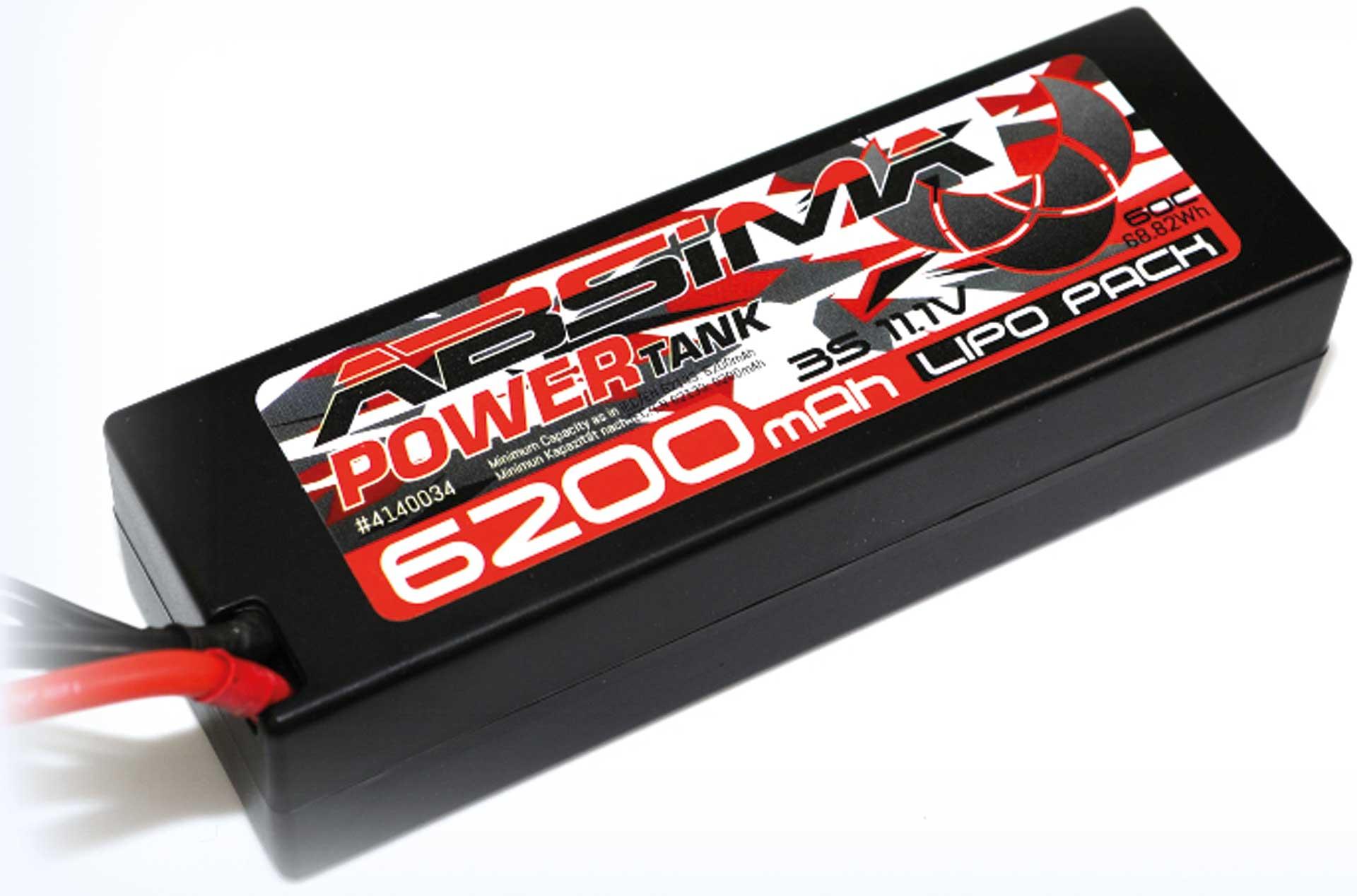 Absima Power Tank LiPo Stick Pack 11,1V 60C6200mah Hardcase (XT90-Plug)