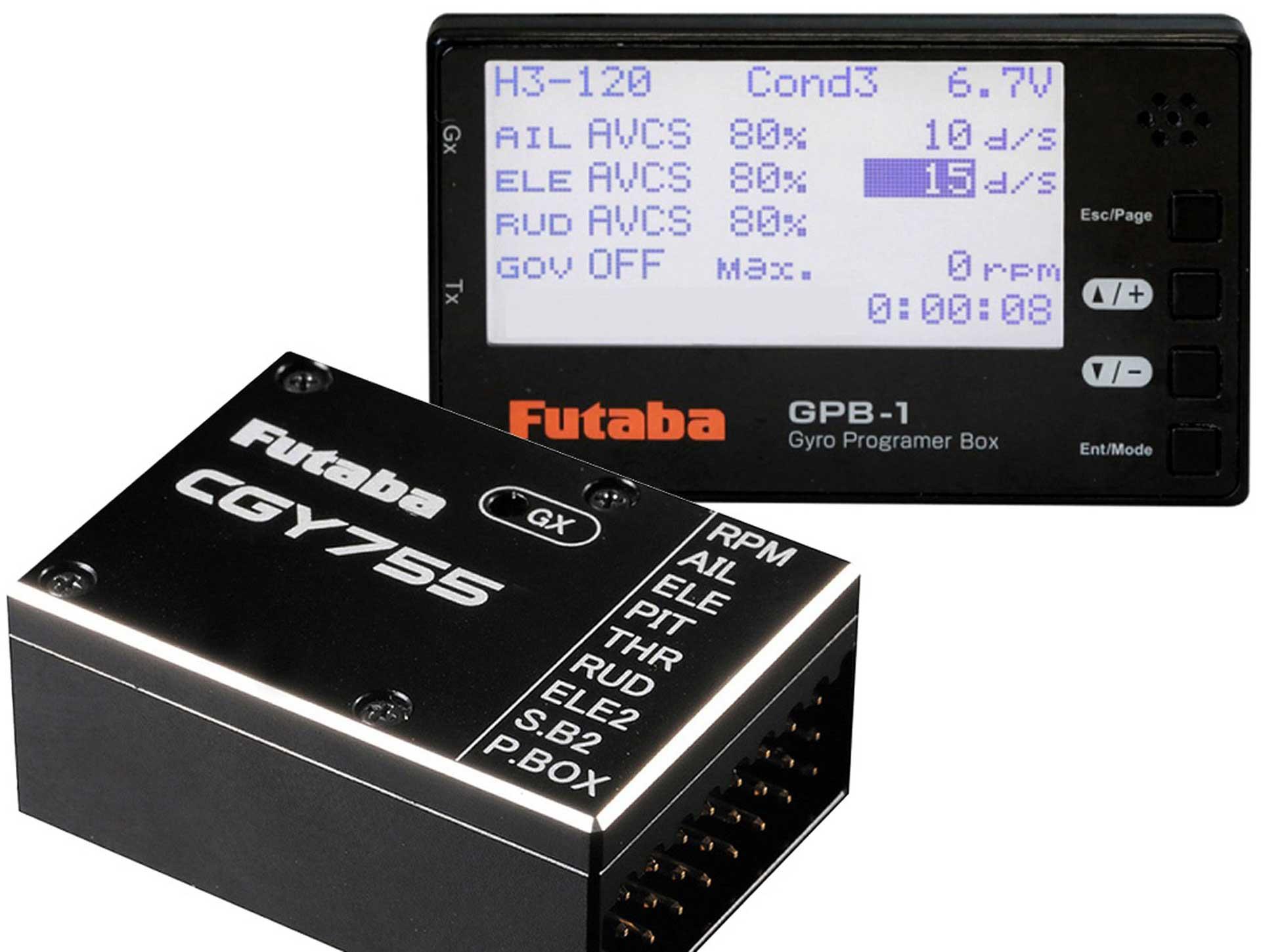 FUTABA Heli 3D/F3C-Kreisel CGY755 mit GPB-1