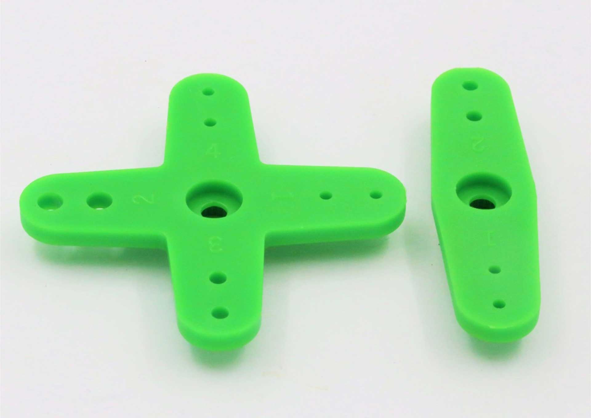 ACT RANGE OF SERVO LEVERS FOR FUTABA (12 PIECE) DIV. COLOURS