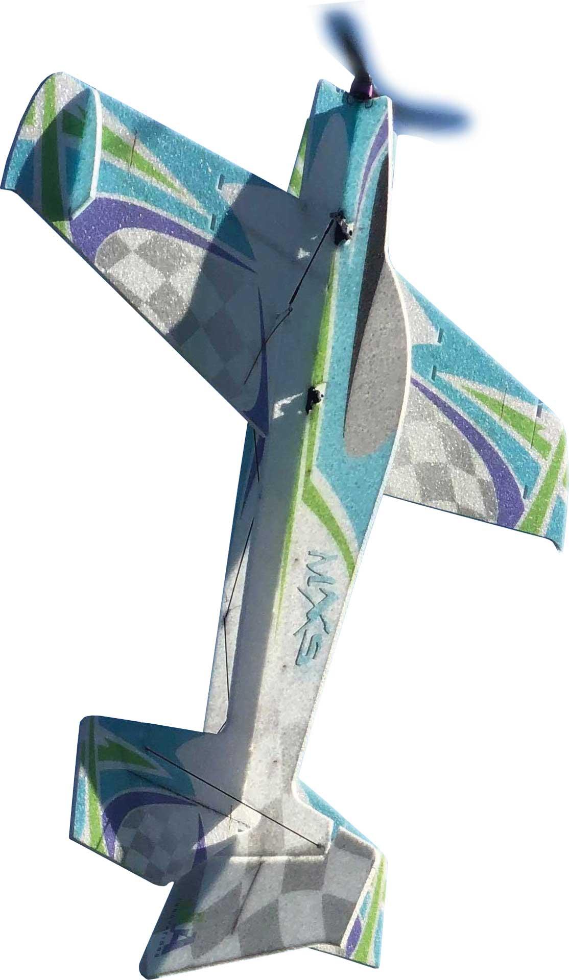 "JTA Innovations MXS (grün/blau) 33"" EPP 3D-Kunstflug Modell"