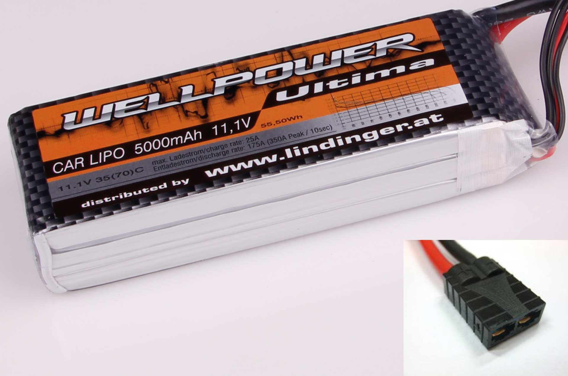 Wellpower Lipo Akku Ultima Car 5000 mAh / 11,1 Volt 3S 35/70C CH5/8 TRX