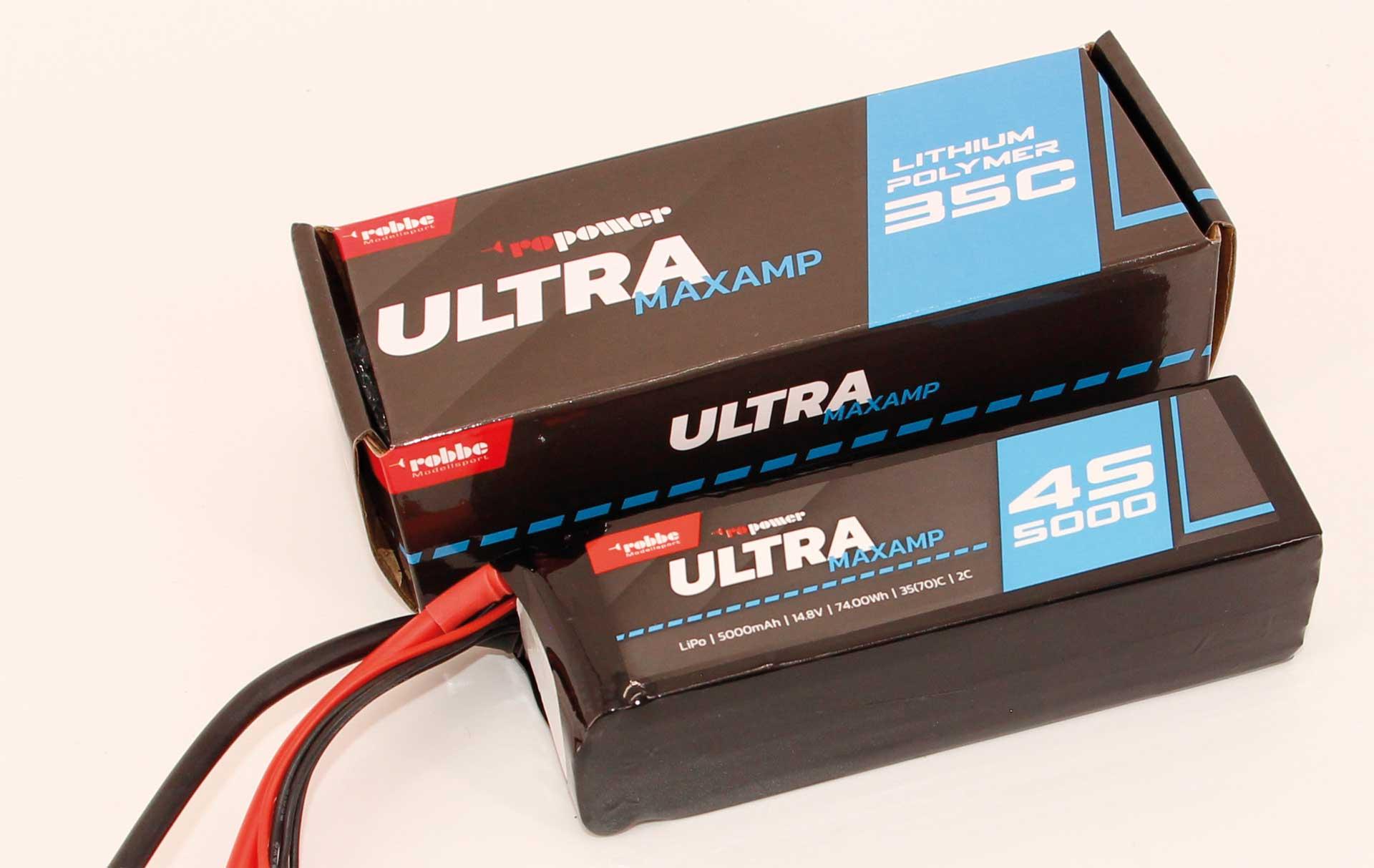 Robbe Modellsport RO-POWER ULTRA MAXAMP 5000MAH 14,8 VOLT 4S 35(70)C LIPO AKKU