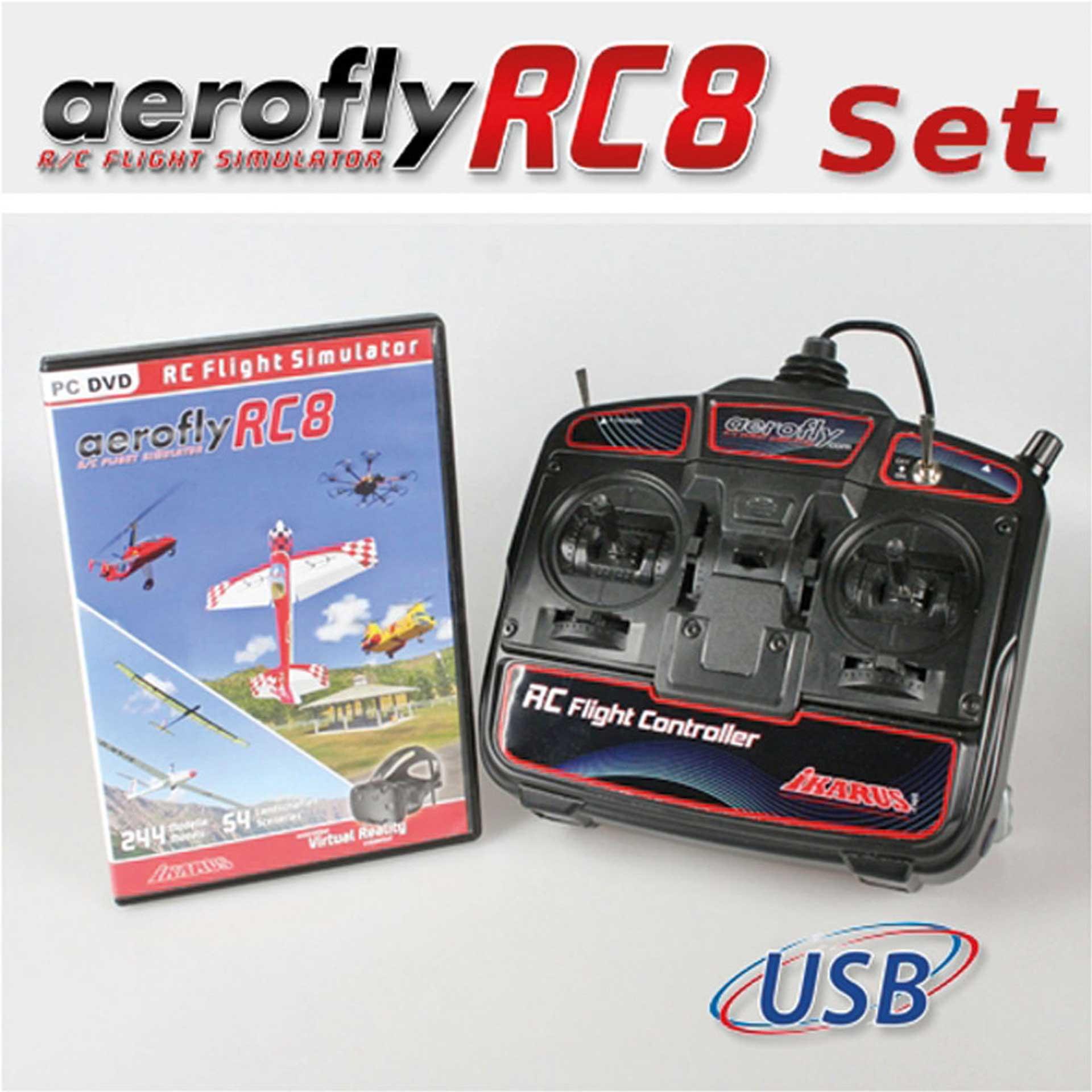 IKARUS AEROFLYRC8 WITH USB-FLIGHTCONTROL UNIT