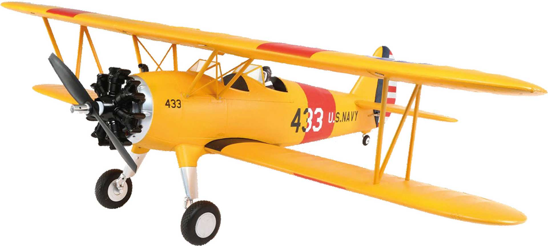 E-Flite PT-17 1,1M BNF BASIC DOUBLE DECKER WITH AS3X AND PTIONALER SAFE® SELECT TECHNOLOGY