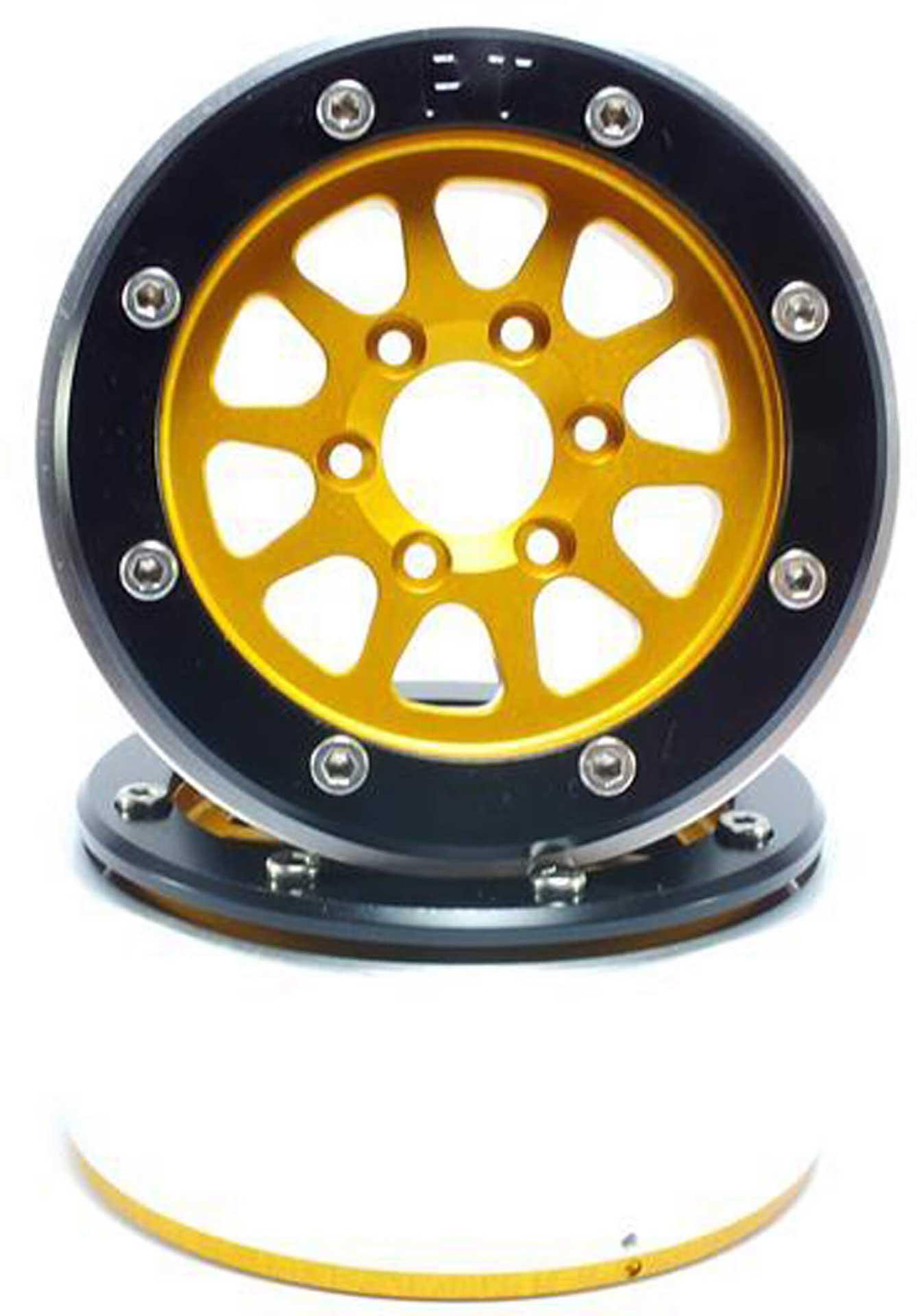Metsafil Beadlock Wheels GEAR gold/schwarz 1.9 (2 St.) ohne Radnabe