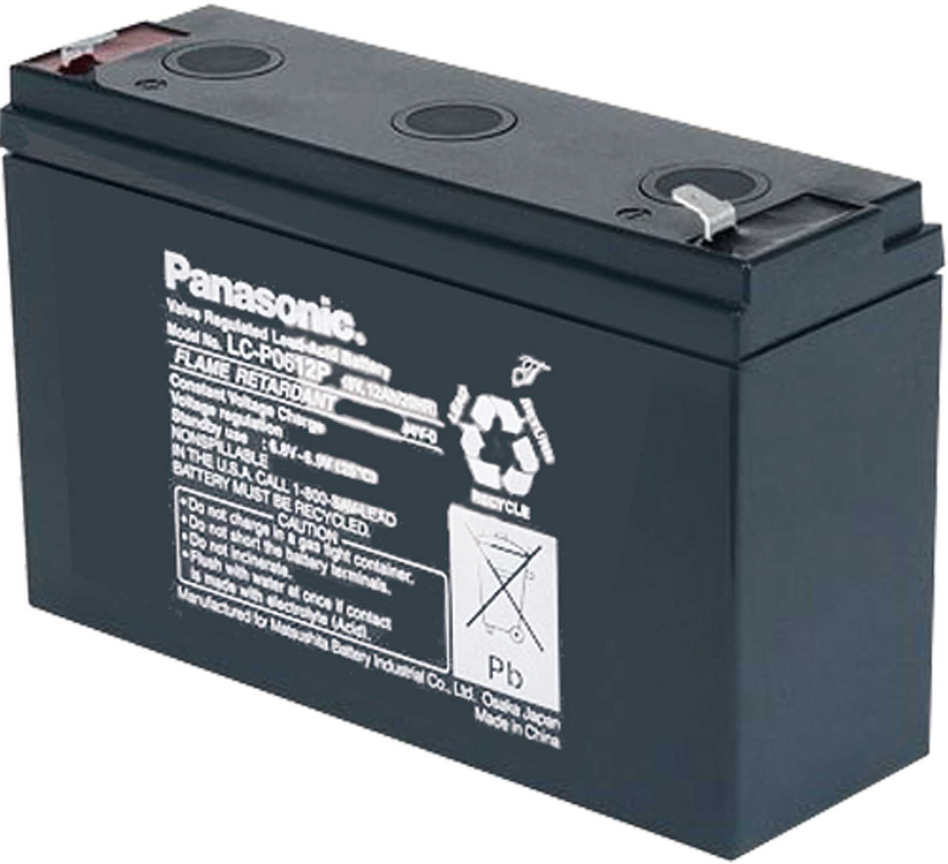 PANASONIC LEAD ACID BATTERY 6V/12AH