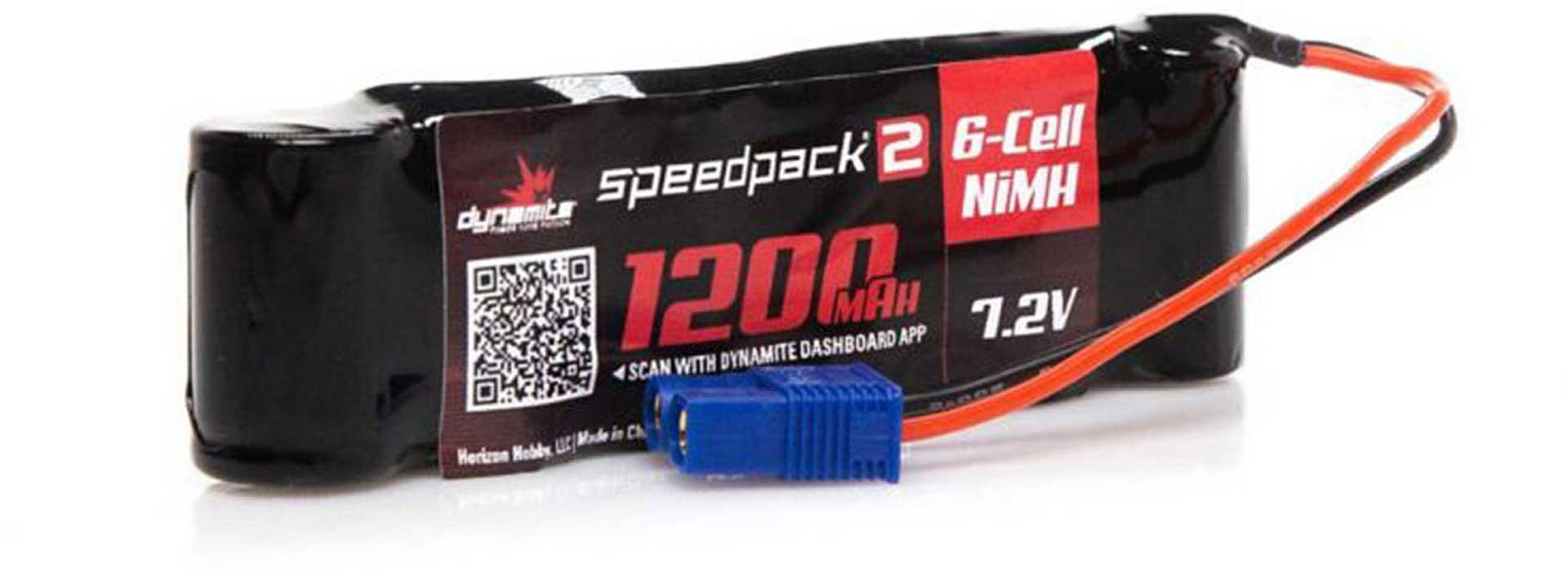 DYNAMITE SPEEDPACK2 7.2V 1200MAH 6 CELL NIMH LONG MINIS EC-3