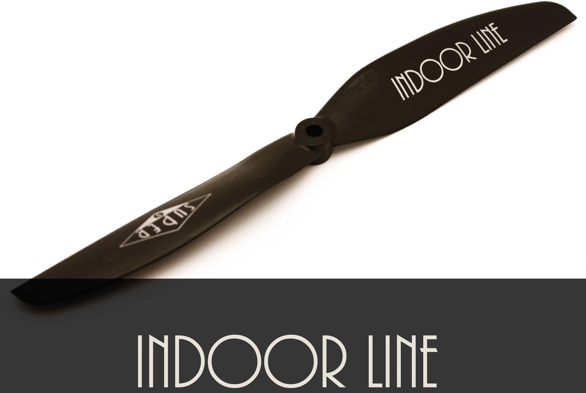 """Super Indoor Line 5x4"""", 13x10 cm noir 1Stk. hélice"""