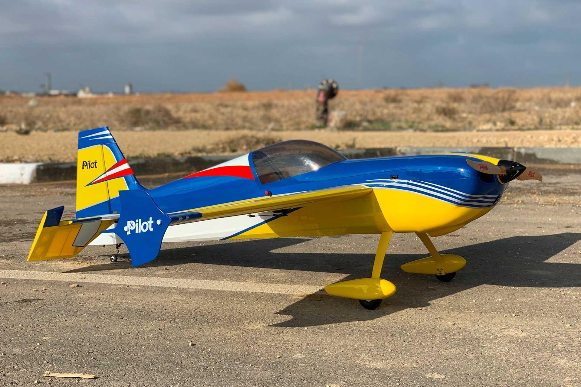 "PILOT-RC LASER 67"" ARF YELLOW/BLUE/WHITE #06"