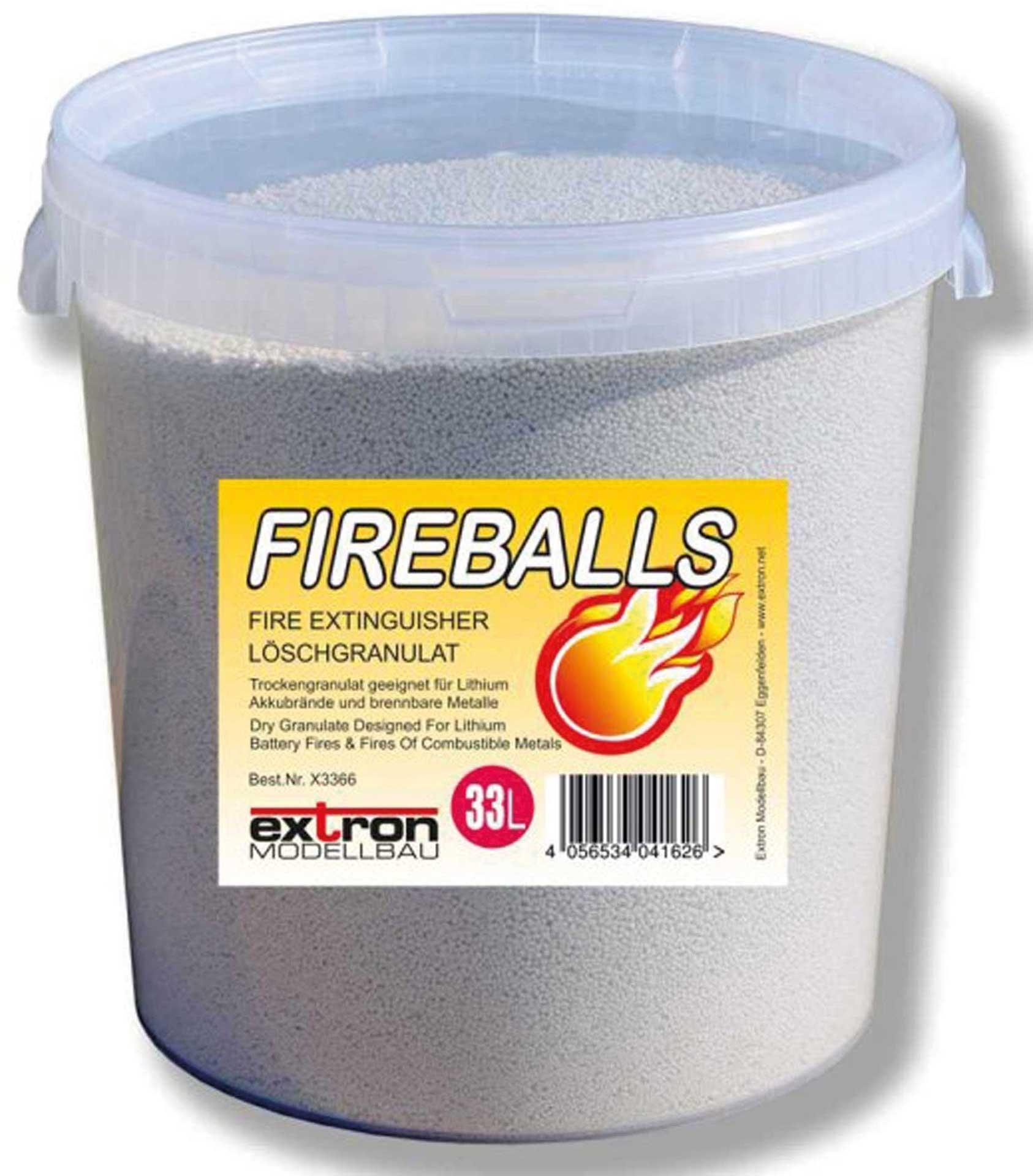 EXTRON Fireballs Brandschutz Granulat 33 Liter im Eimer , Feuerlöschgranulat