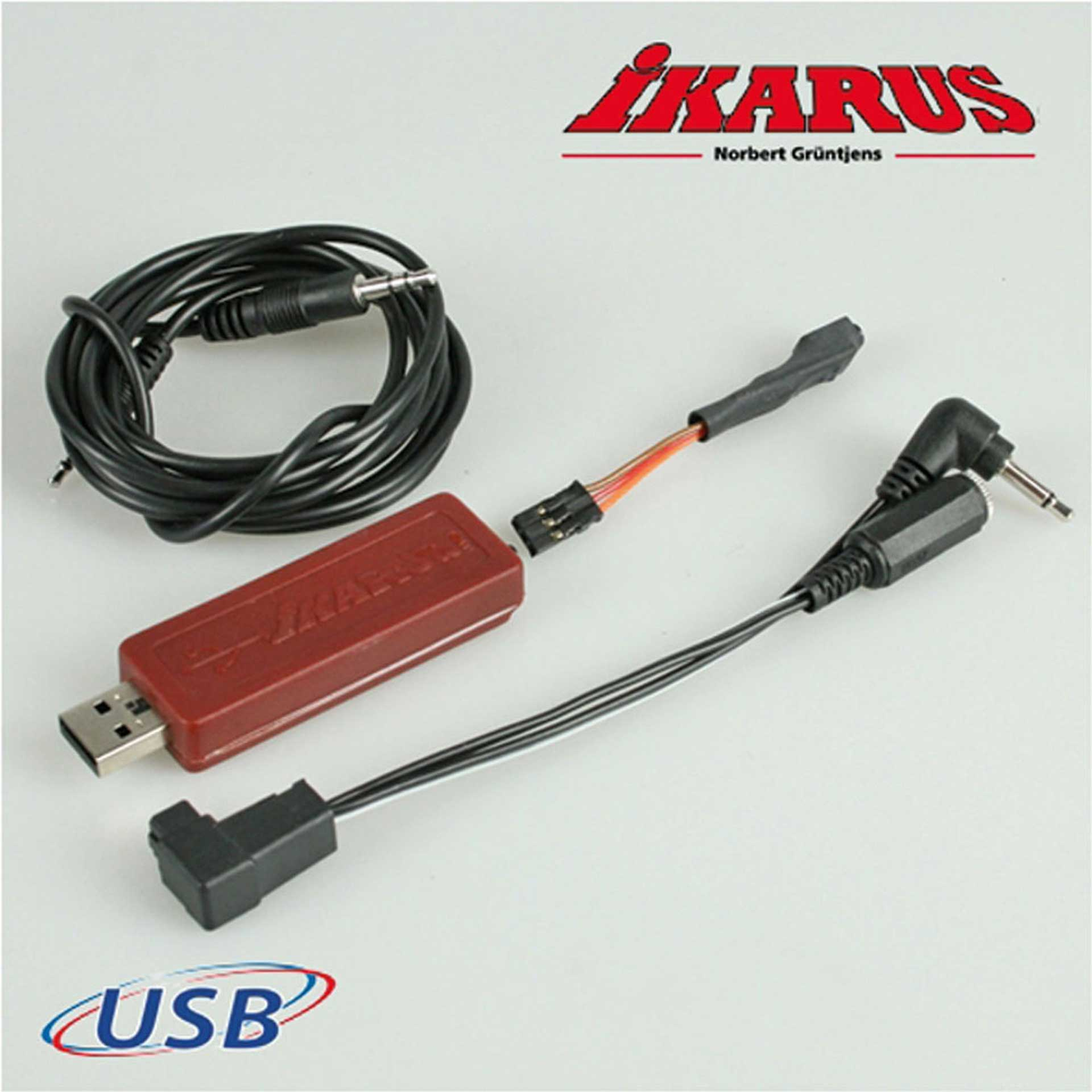 IKARUS USB-INTERFACESET FOR SPECTRUM AND FUTABA TRANSMITTER (WIRED)