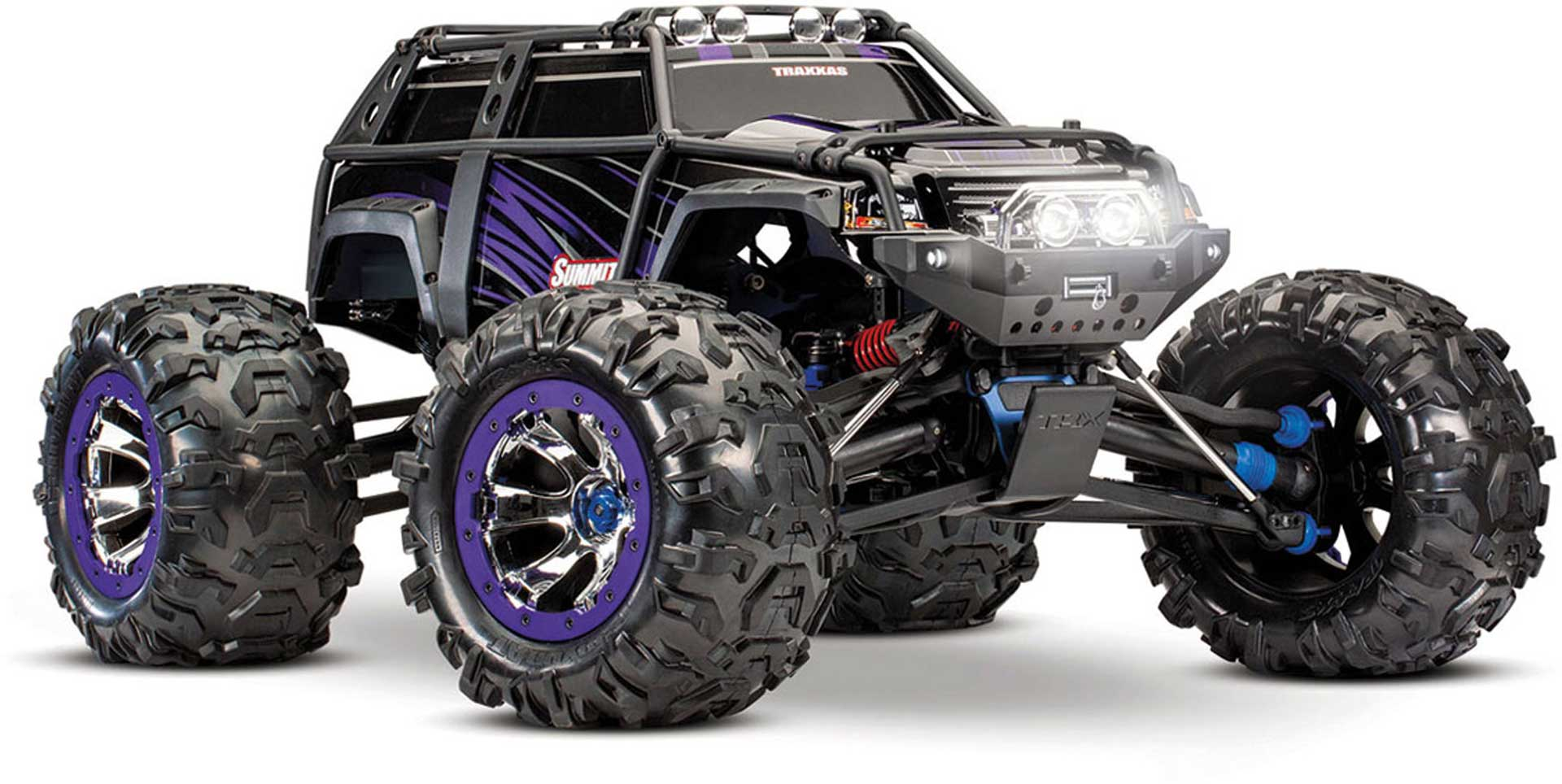 TRAXXAS SUMMIT PURPLE RTR EVX2 1/10 4WD EXTREME TERRAIN MONSTER TRUCK