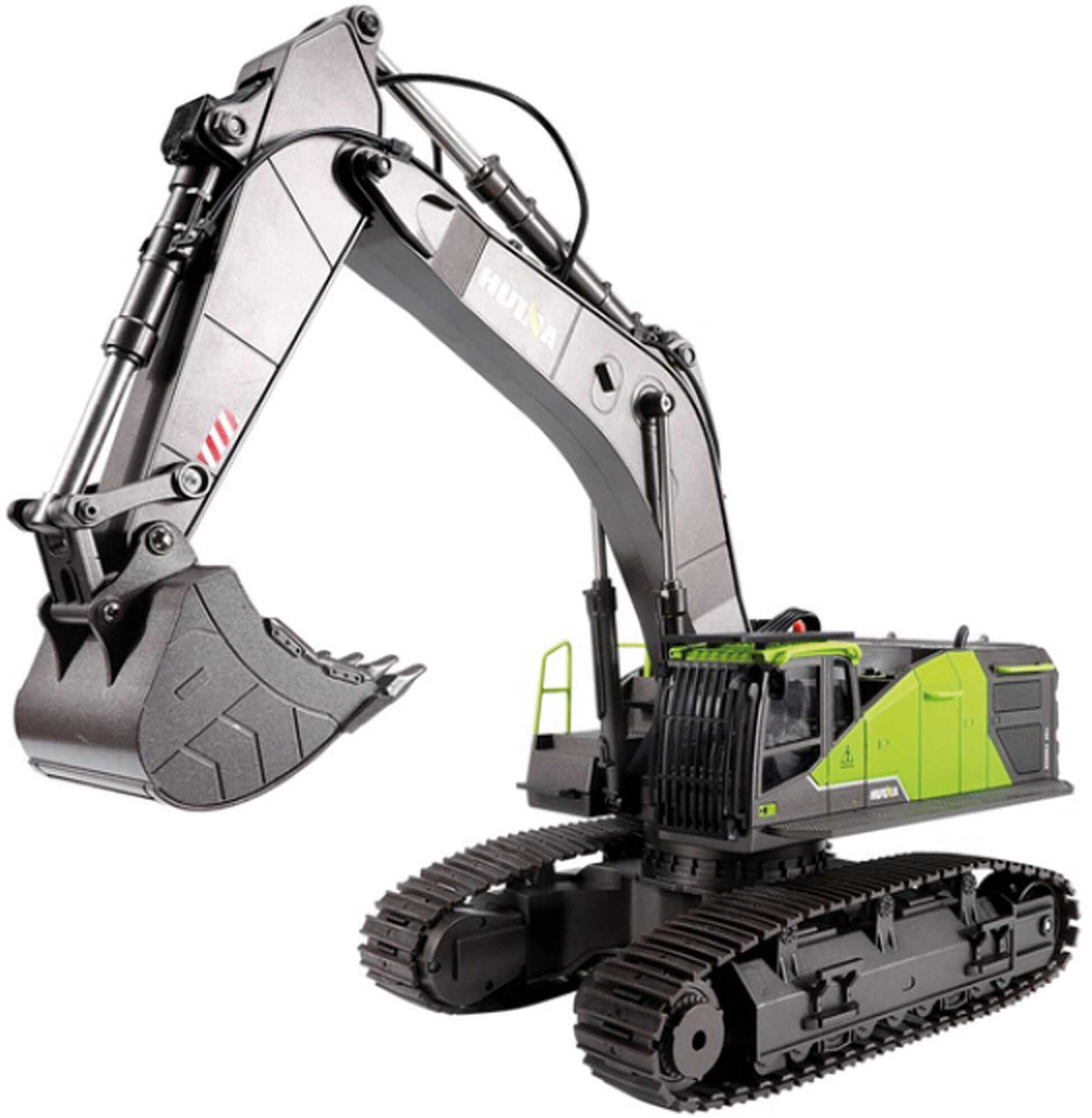 FM-ELECTRICS Tracked Excavator 1:14 Green with High-Quality Technik RTR