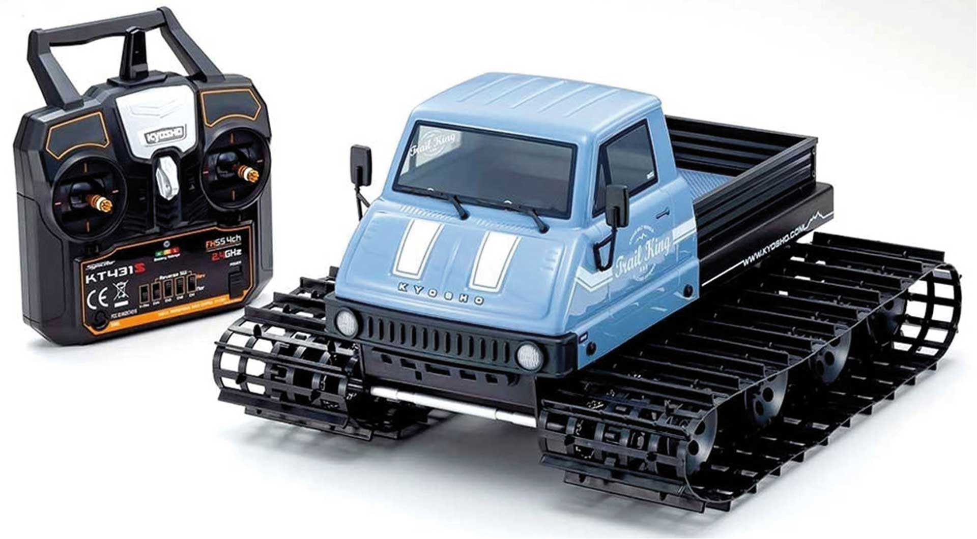 KYOSHO TRAIL KING 1:12 READYSET EP TRACKED VEHICLE (KT431S) - T2 BLUE