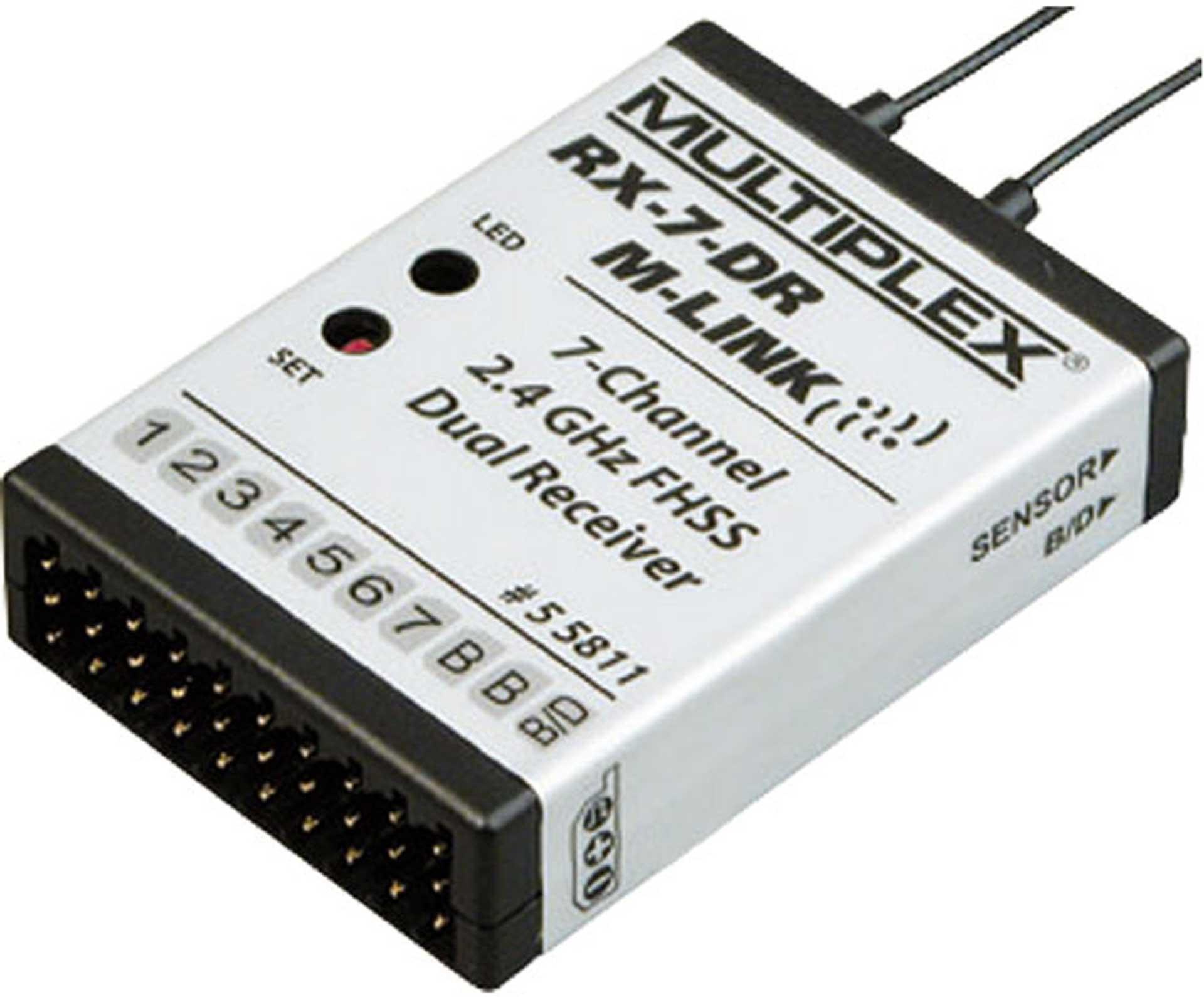MULTIPLEX RX-7 DR 2,4GHZ M-LINK EMPFÄNGER MPX