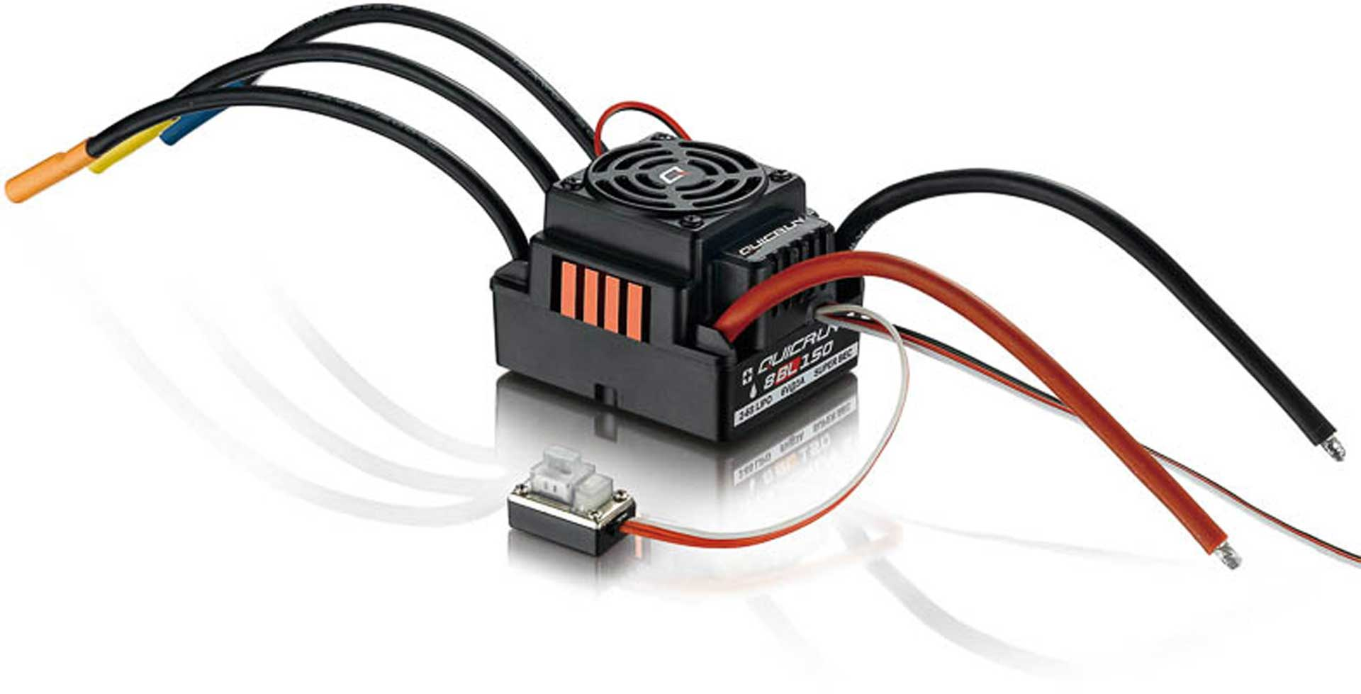 HOBBYWING QuicRun WP8BL150 Brushless Controller 150A for 1/8 Models