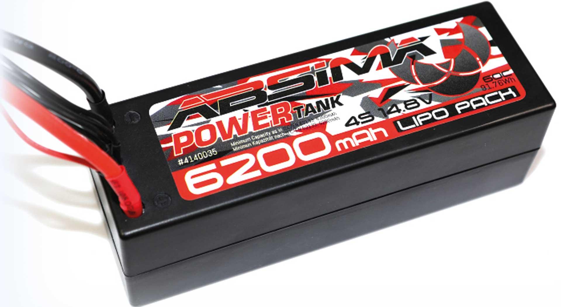 Absima Power Tank LiPo Stick Pack 14.8V-60C6200 Hardcase (T-Plug)