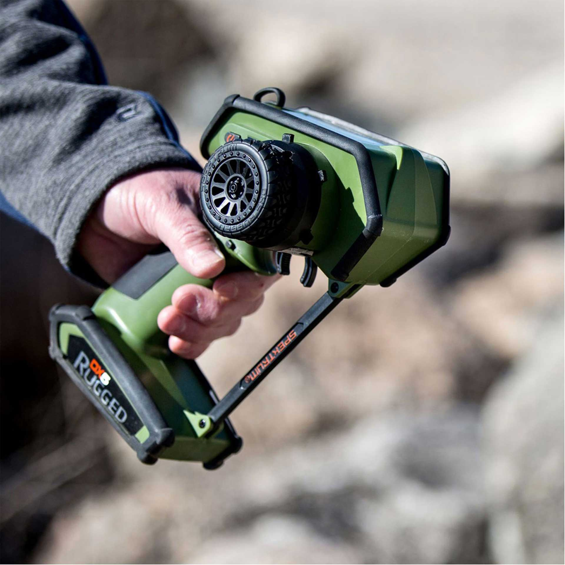 SPEKTRUM DX5 RUGGED DSMR TX ONLY INTL GRÜN SPECIAL EDITION