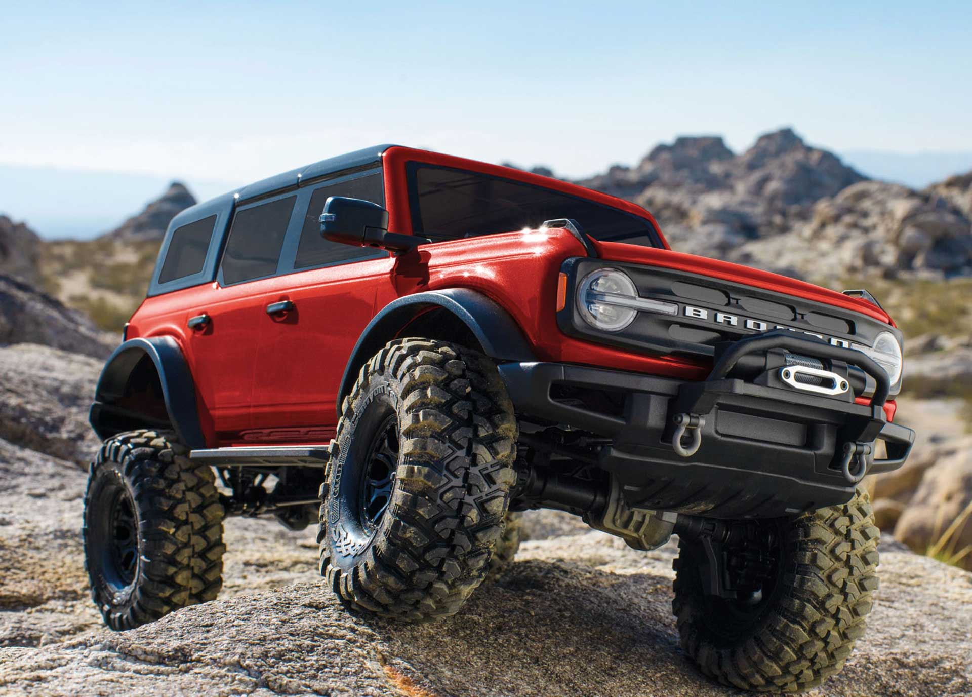 TRAXXAS TRX-4 2021 FORD BRONCO ROT RTR O. AKKU/LADER 1/10 4WD SCALE CRAWLER BRUSHED