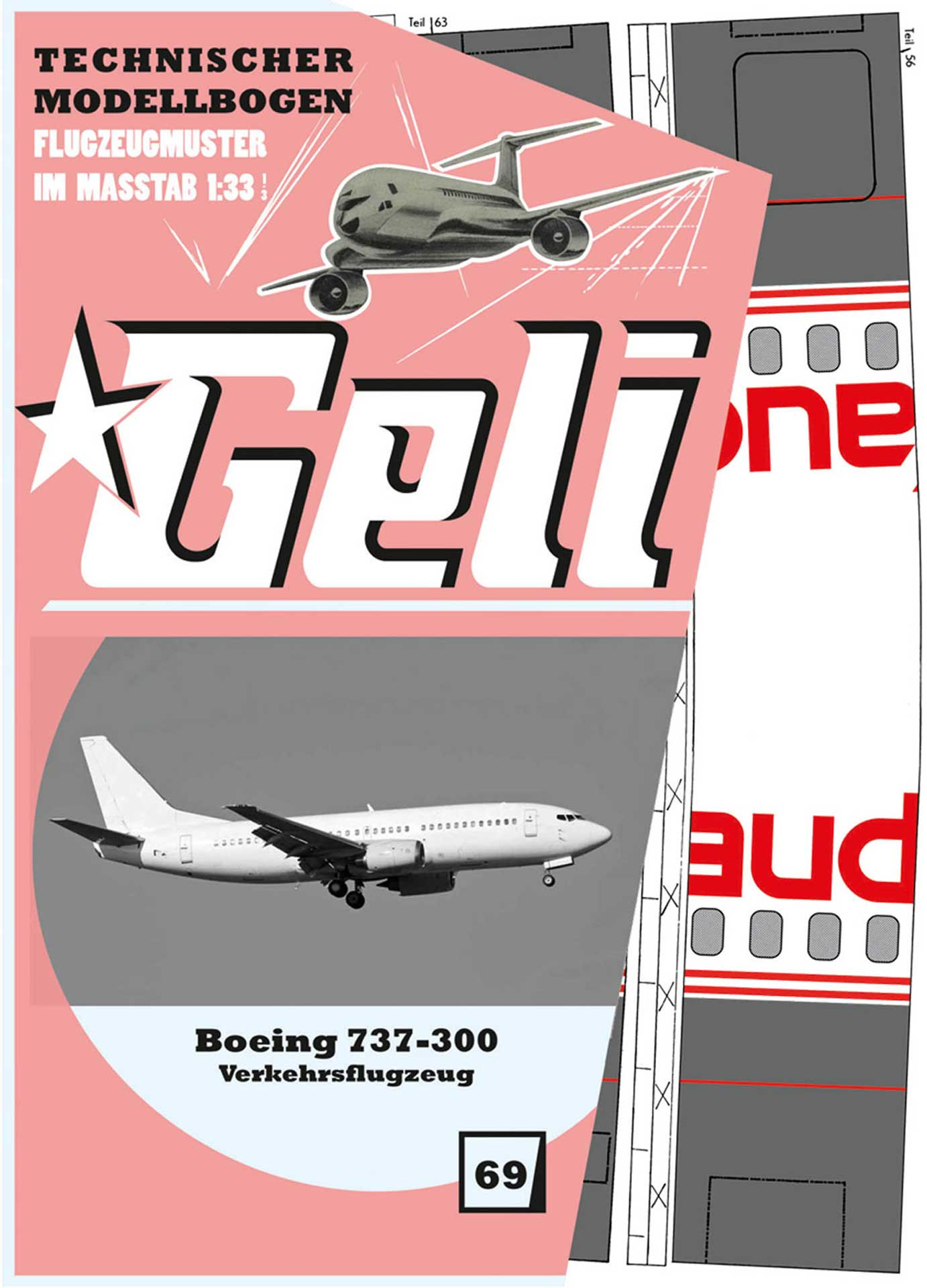 GELI BOEING 737 # 69 KARTONMODELL