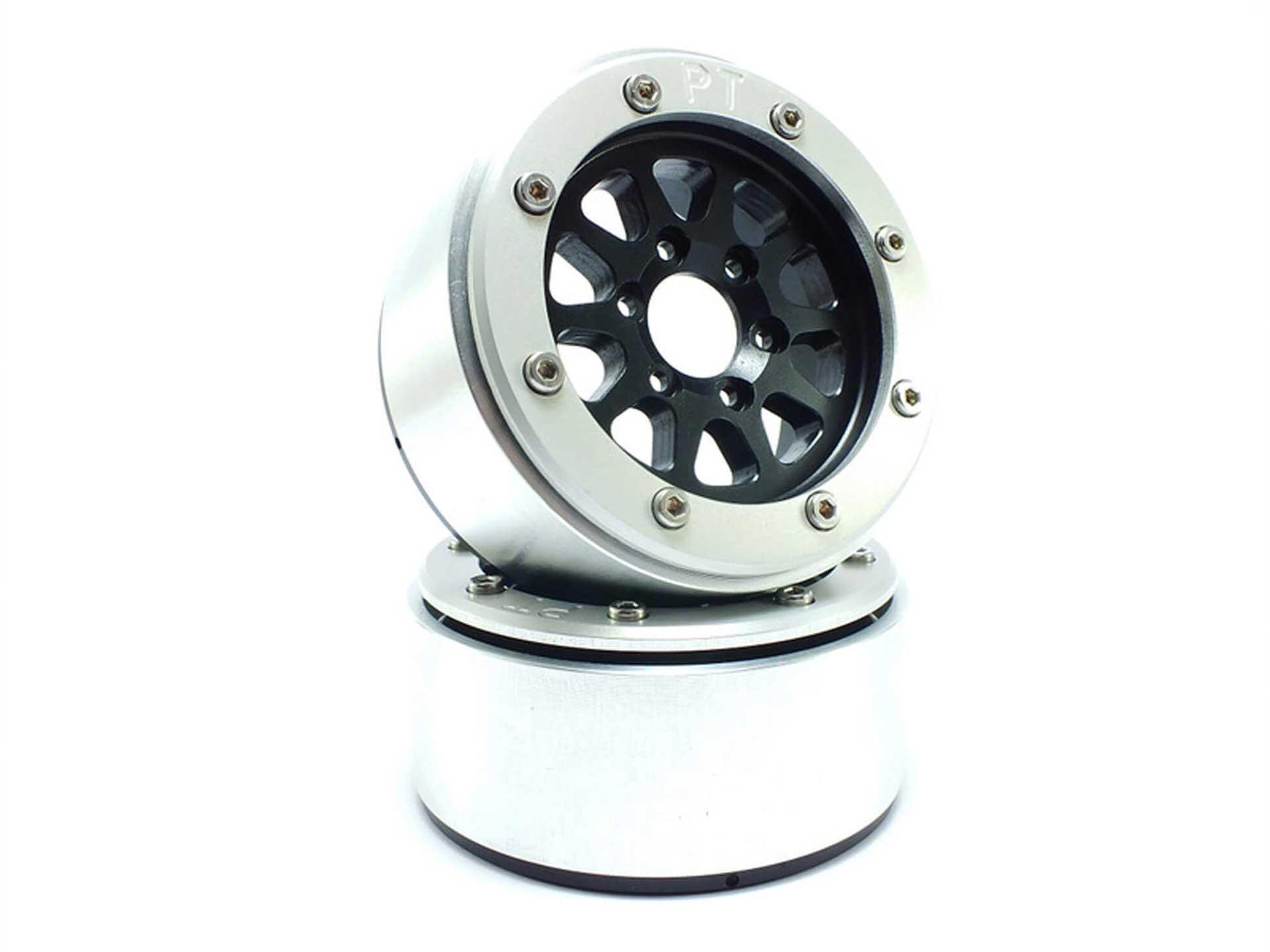 Metsafil Beadlock Wheels GEAR schwarz/silber 1.9 (2 St.) ohne Radnabe