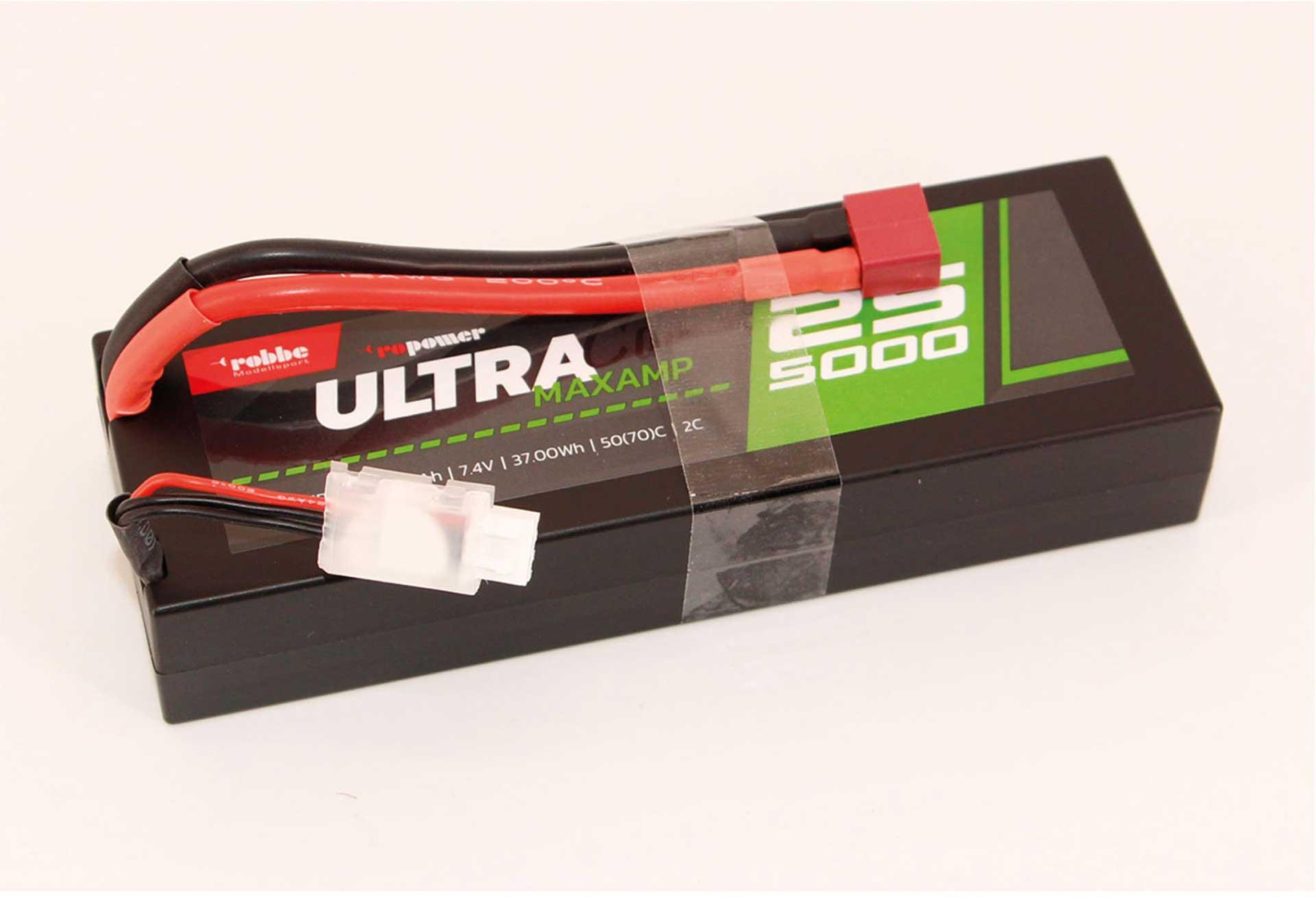 Robbe Modellsport RO-POWER ULTRA MAXAMP CAR 5000MAH 7,4 VOLT 2S 35(70)C LIPO AKKU T-(XT-60) Stecker