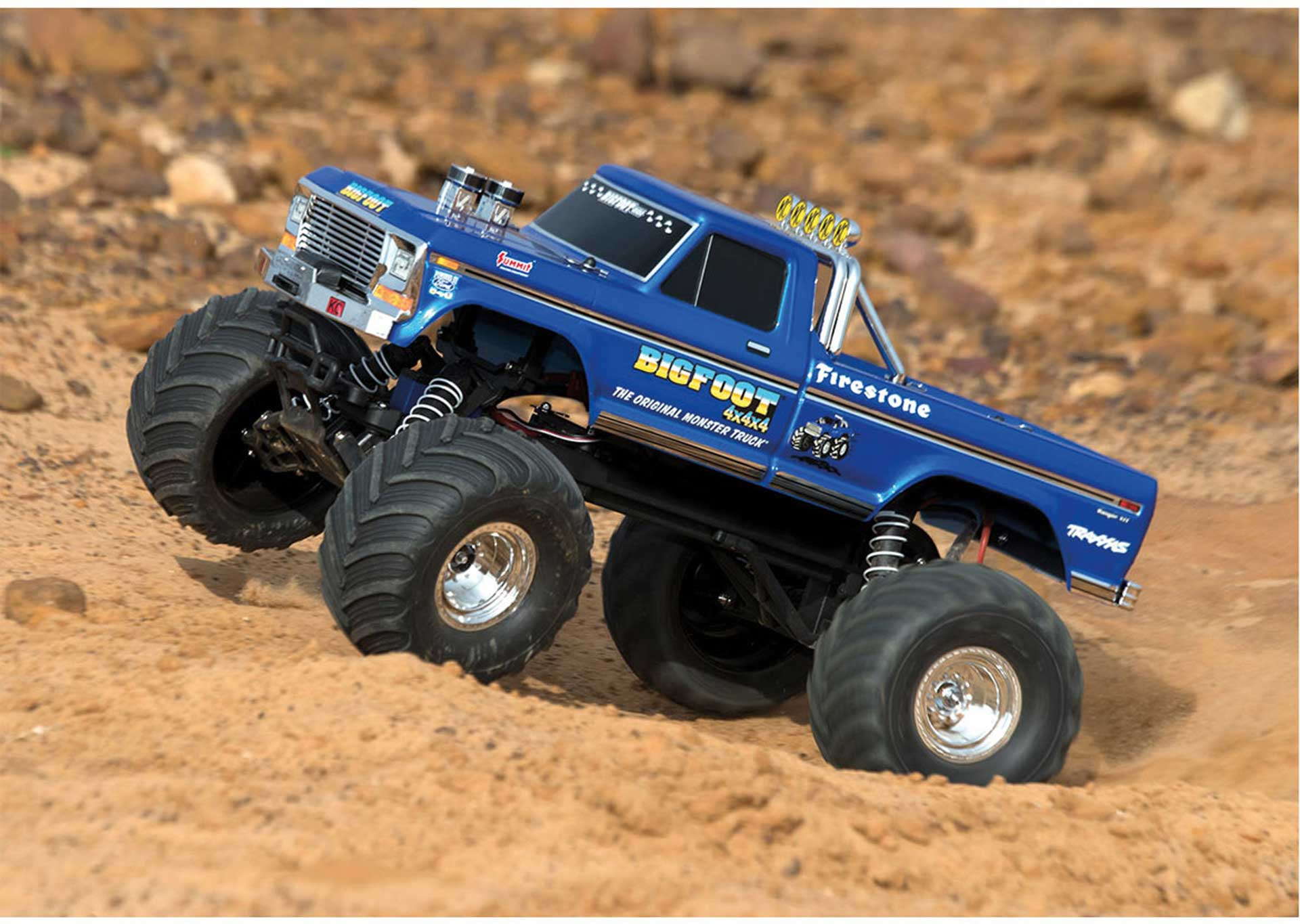 TRAXXAS BIGFOOT NO.1 MONSTERTRUCK RTR +12V-LADER 1/10 2WD