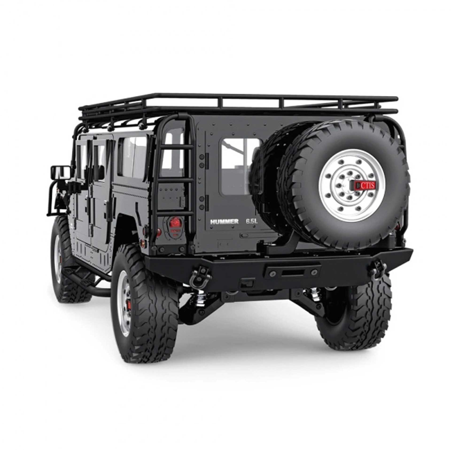 FM-ELECTRICS Hummer H1 1/10 XL Scale SUV schwarz 4WD RTR