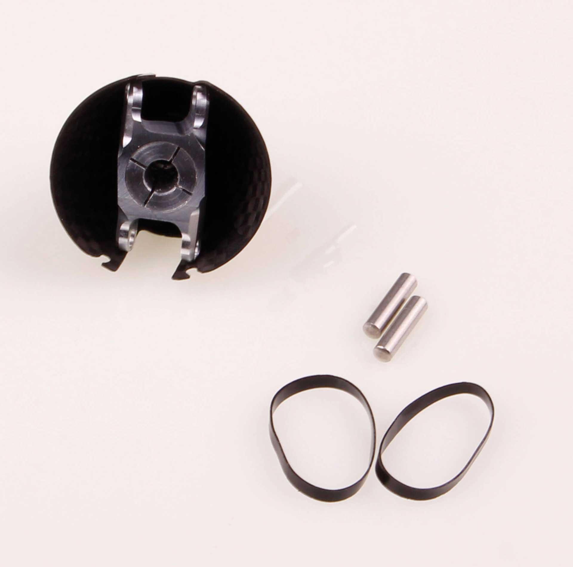 GM Propellers Spinner F5J ø 32mm Diameter, motor shaft ø 5mm Competition Carbon black