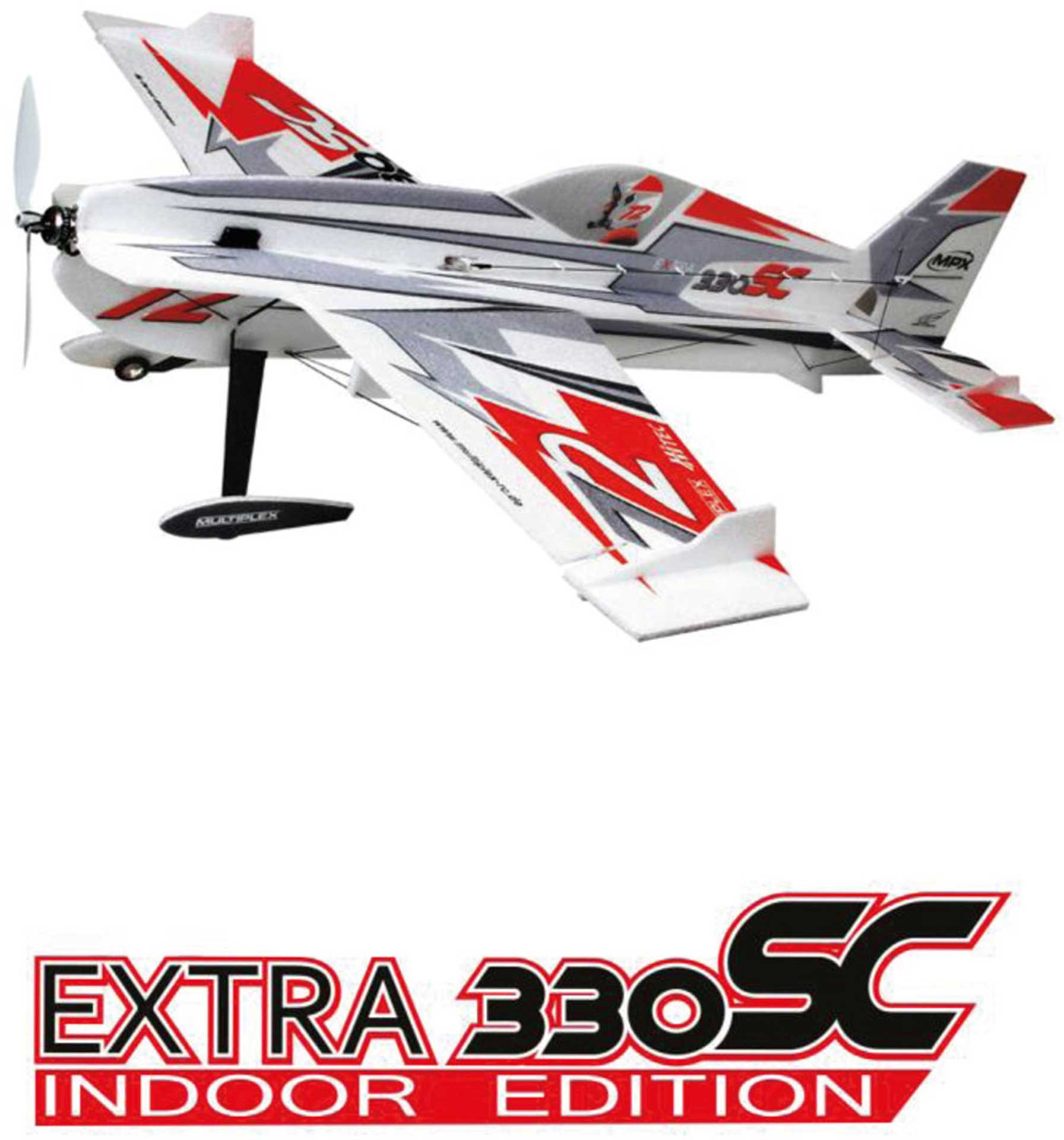 MULTIPLEX EXTRA 330SC INDOOR EDITION SILVER (SILVER/RED)