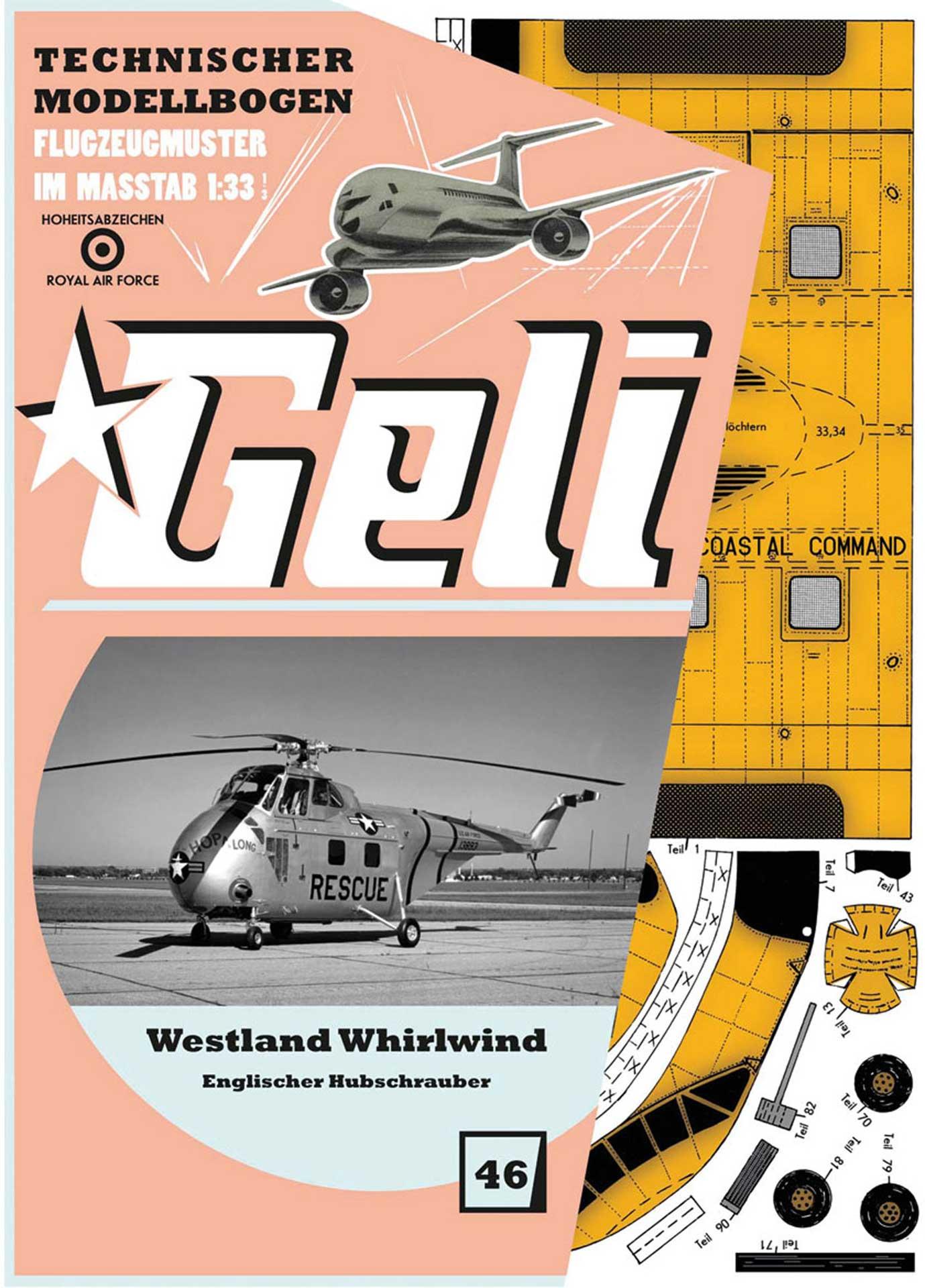 GELI Westland Whirlwind # 46 KARTONMODELL