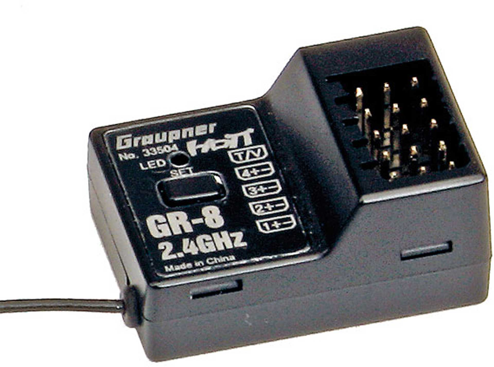 GRAUPNER RECEIVER GR-8 HOTT 2.4 GHZ RACE 4 CHANNL