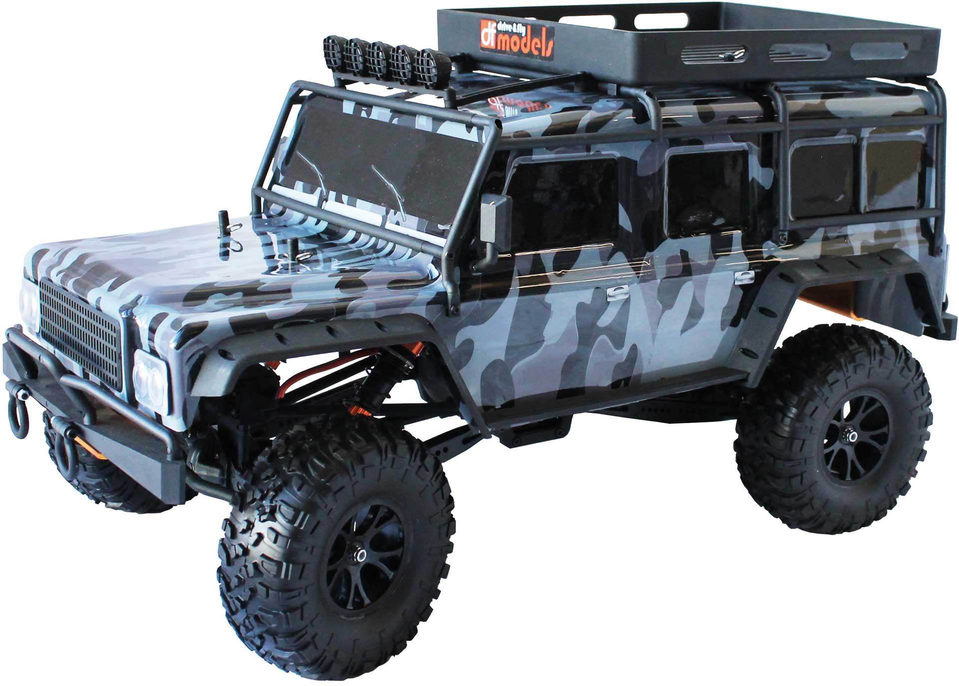 DRIVE & FLY MODELS DF-4J Crawler CAMO 2-speed LED - 2021 Edition