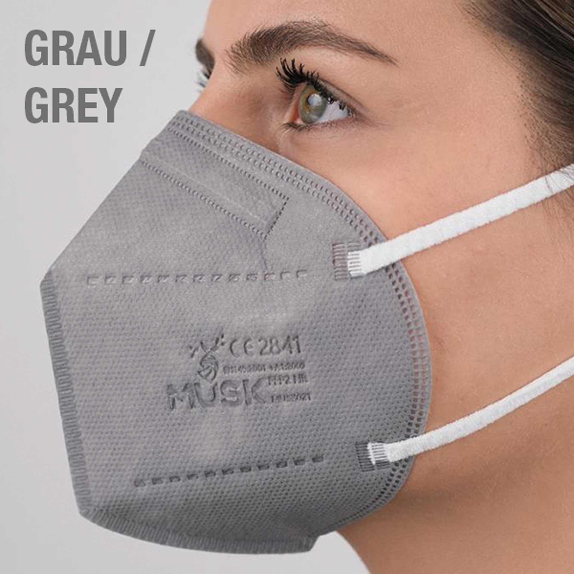 R&G Atemschutzmaske GRAU, FFP2 NR, Packung/ 1 St.