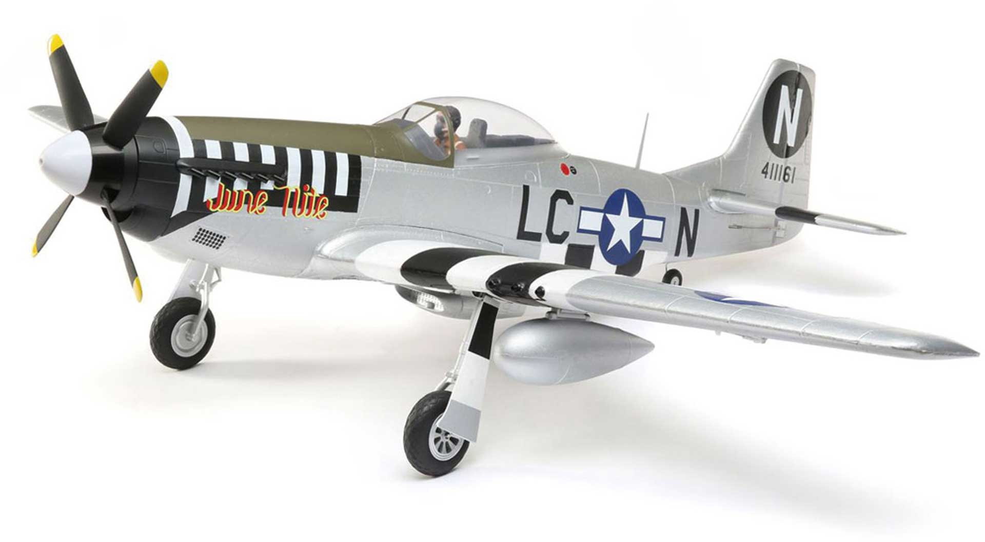 E-Flite P-51D Mustang 1.2m BNF Basic mit AS3X und SAFE Select