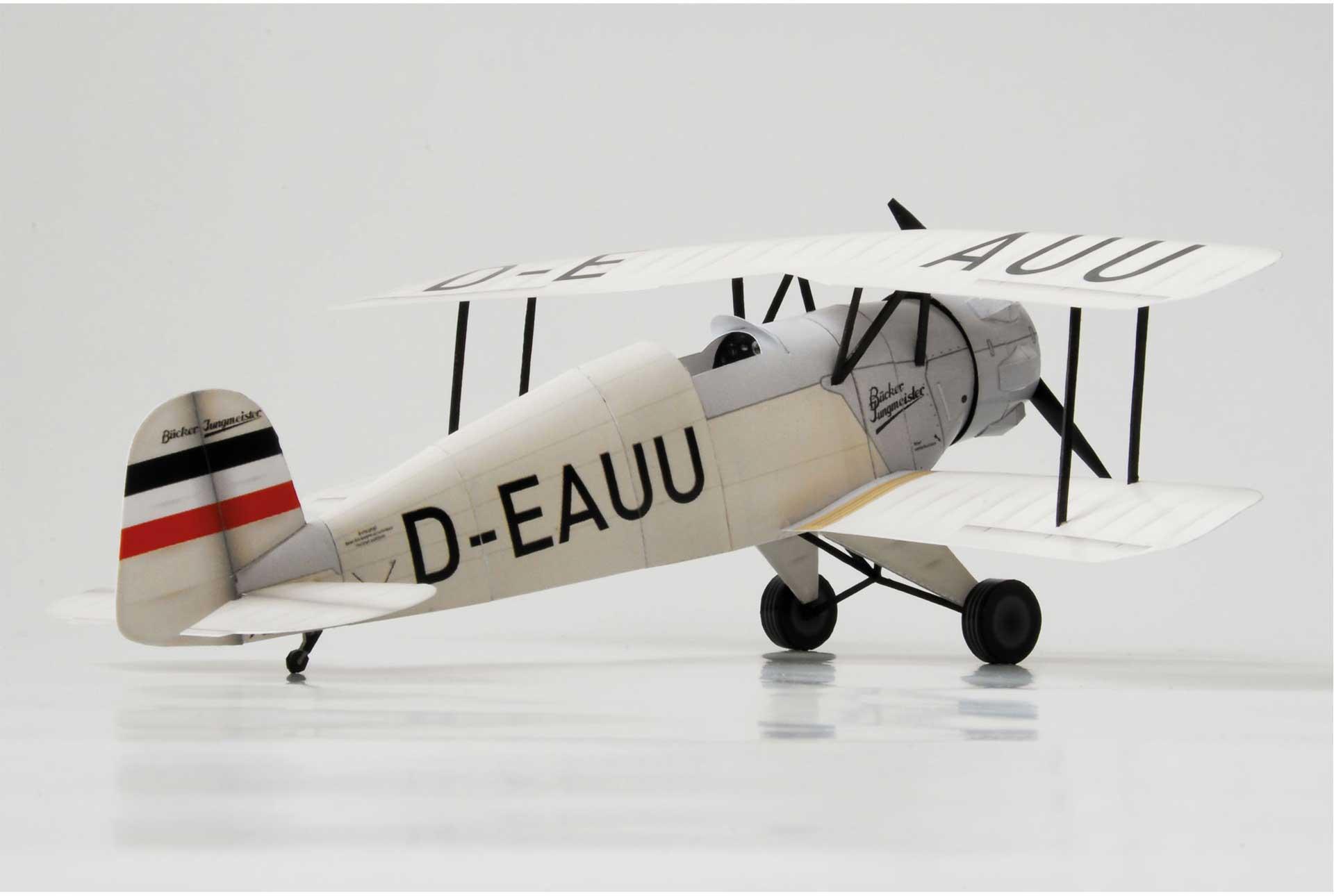 PAPER-MODEL Bücker 133 Jungmeister D-EAUU 1:33 Kartonmodell aus Papier und Karton