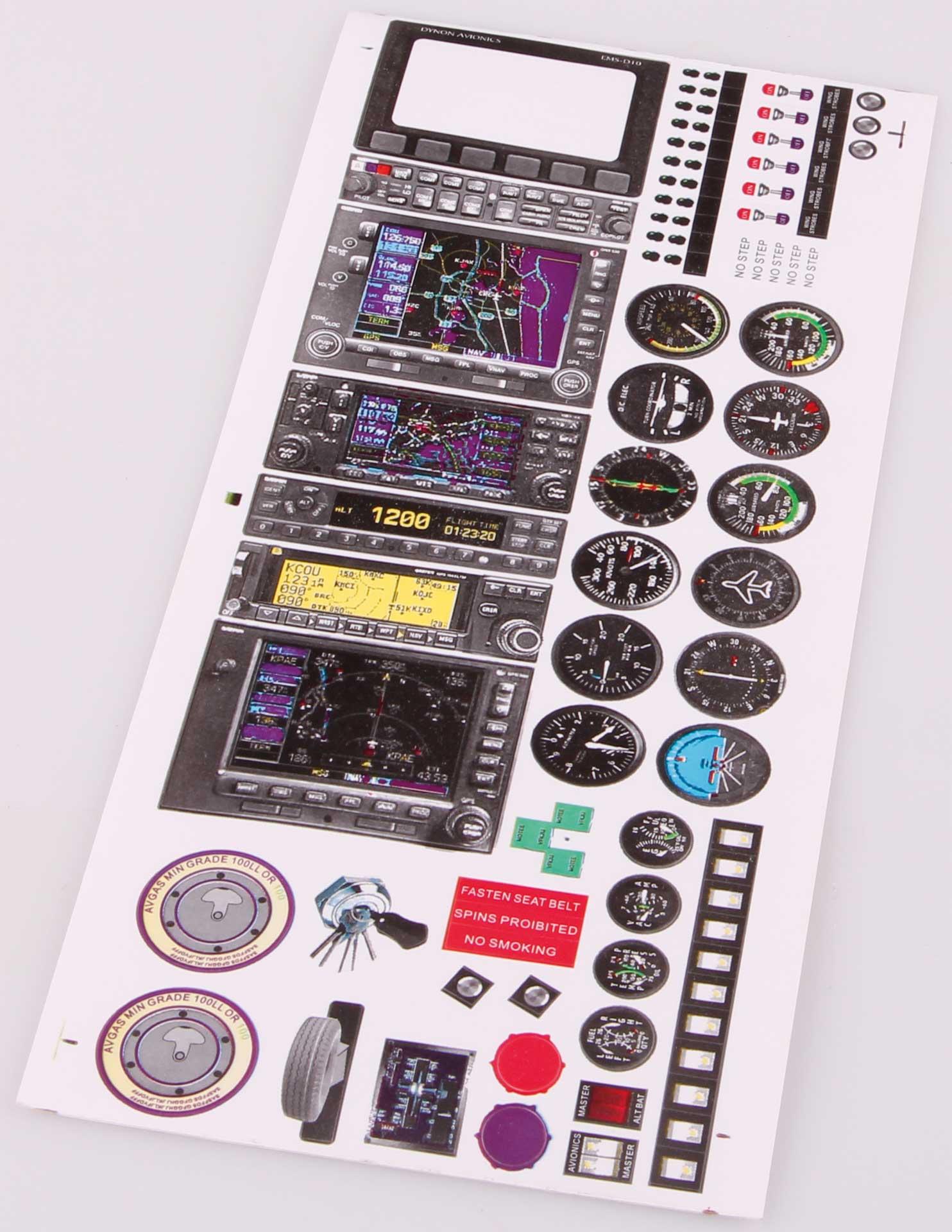 Extron Dekorset für Cockpit-Instrumente V1