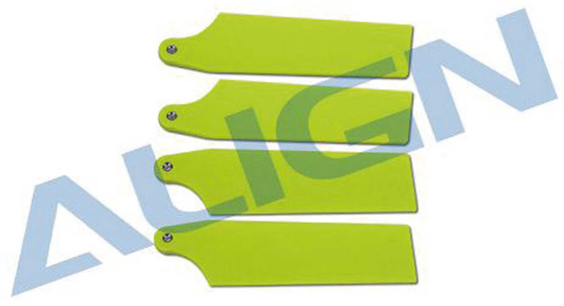 ALIGN TAIL ROTOR BLADES FLUORESCENCE YELLOW 74MM T-REX 470L