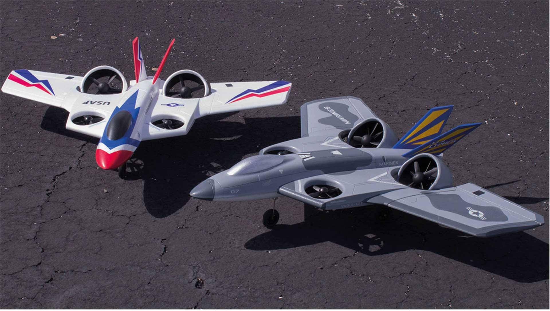 PREMIER AIRCRAFT FV-31 CYPHER VTOL SUPER PNP ROT/WEISS/ BLAU